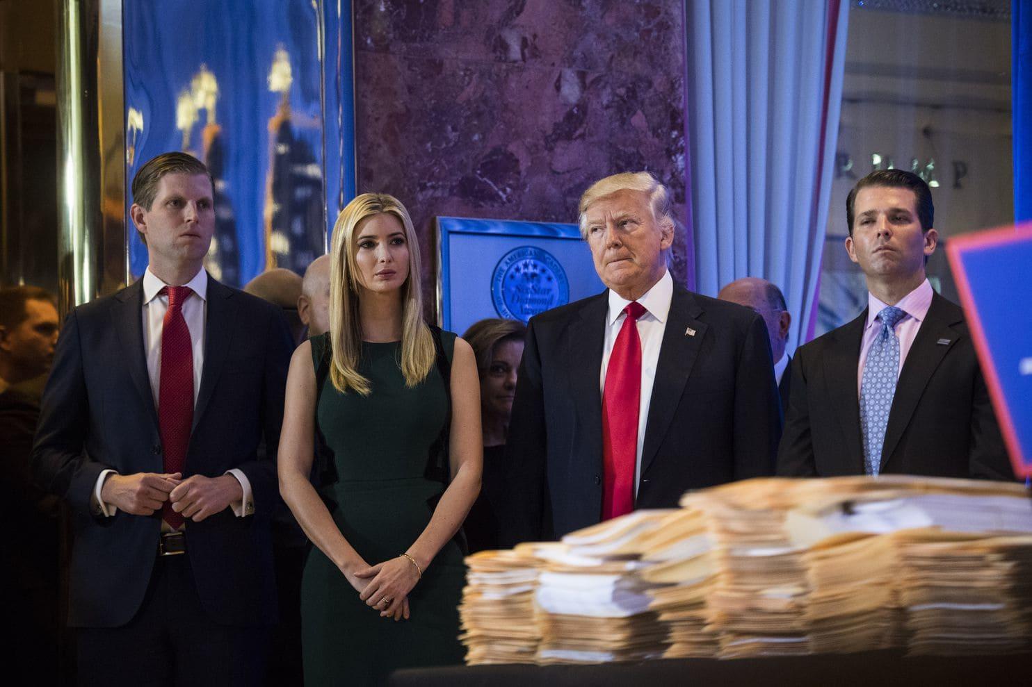 Eric, Ivanka, Donald y Donald Jr. Trump (Jabin Botsford/The Washington Post)