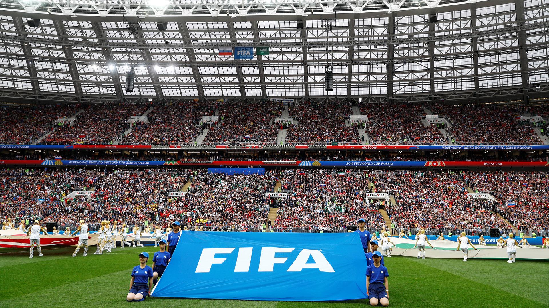 La producción del espectáculo estuvo a cargo del canal de televisión ruso Channel One y fue dirigido por Felix Mikhailov, la mente creativa quedirigió las principales ceremonias celebradas durante todo el trayecto de la Copa Mundial de la FIFA 2018 (REUTERS/Kai Pfaffenbach)