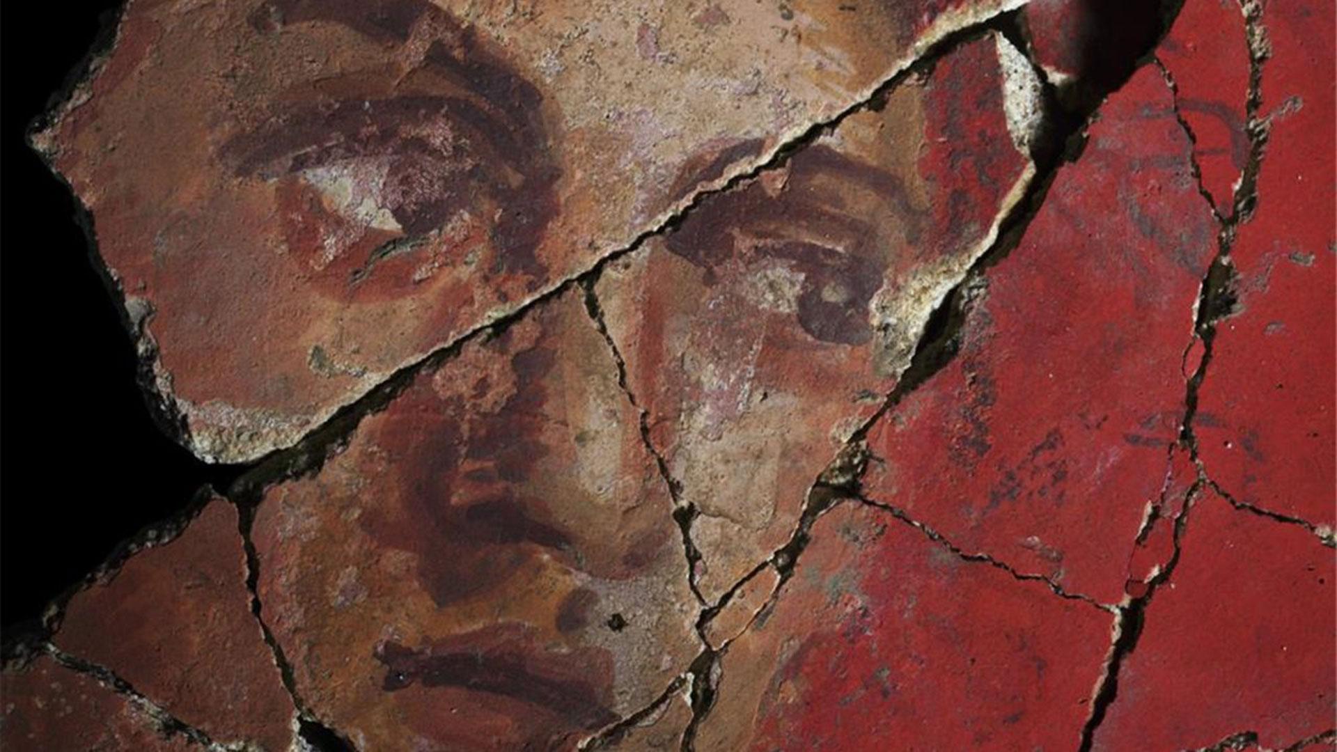 Un retrato, en un muro
