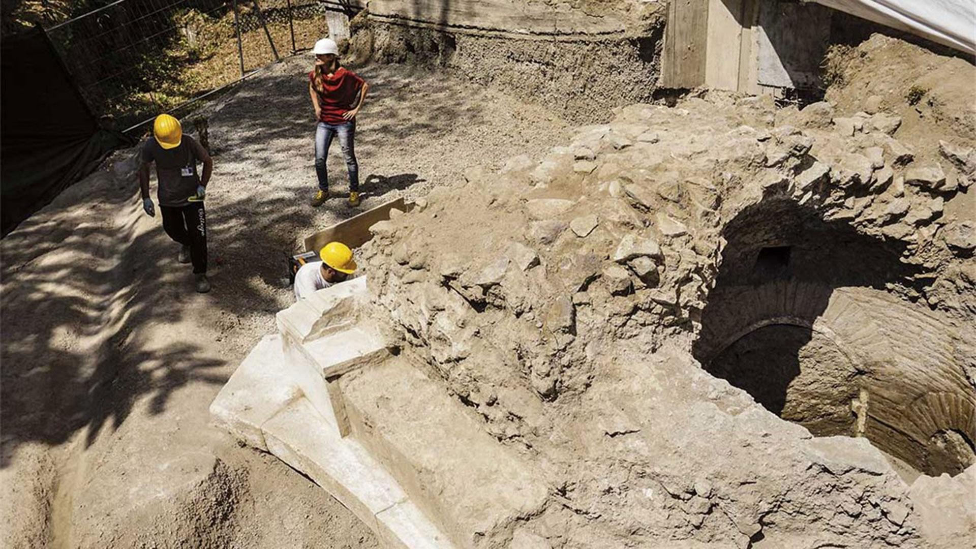Los trabajos de excavación son intensos