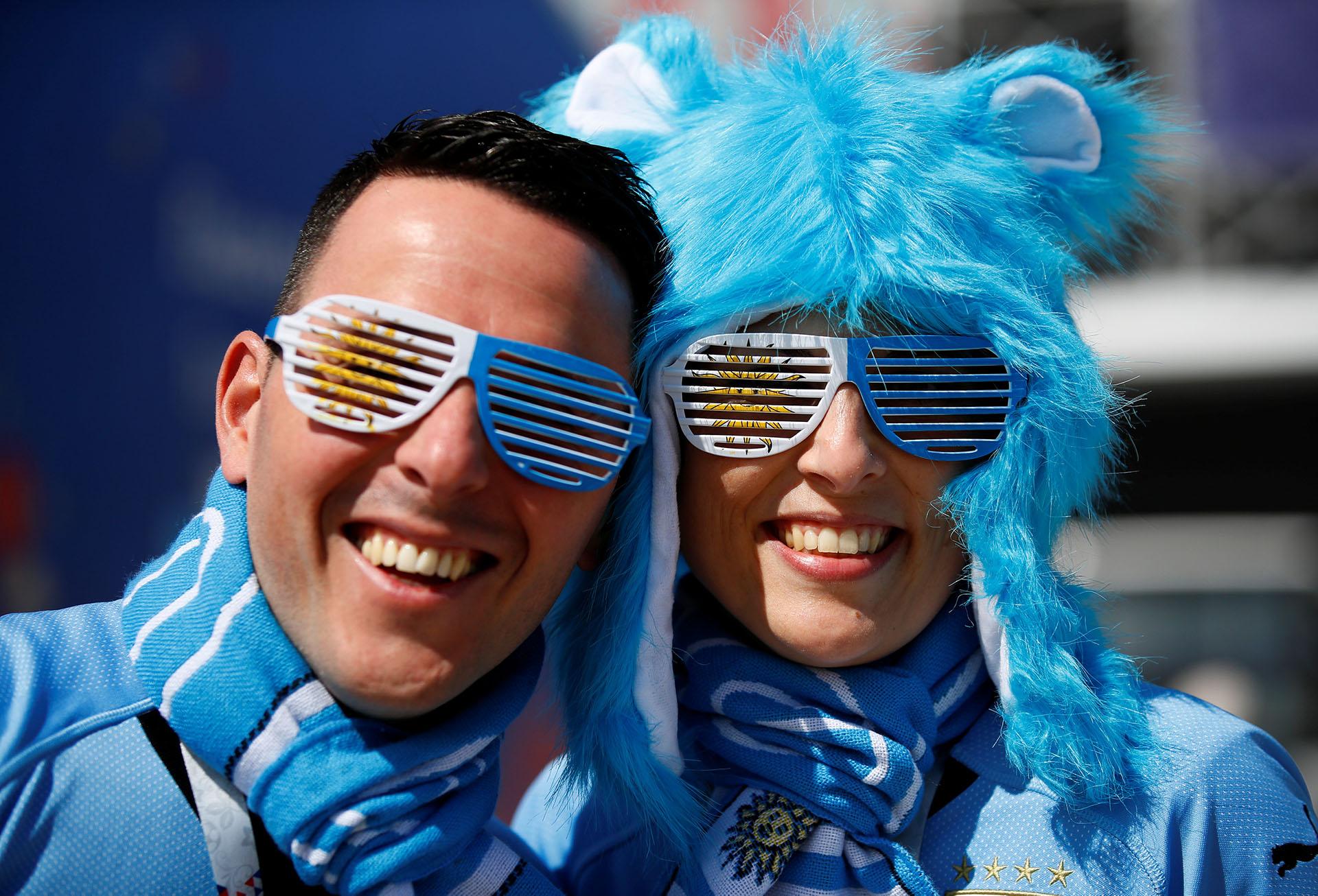Los fanáticos uruguayos apuestan por su delantera