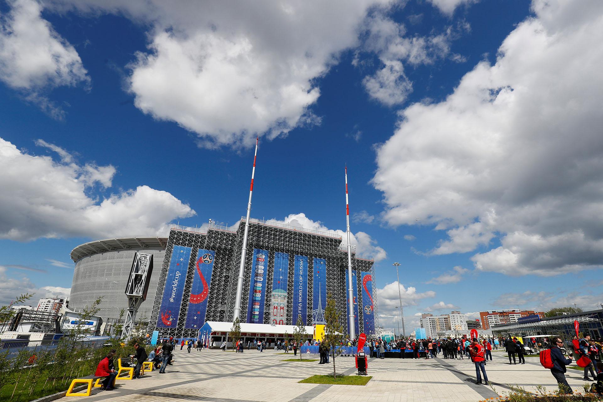 El Ekaterinburg Arena, de Yekaterinburg, Russiaalberga el segundo partido del mundial