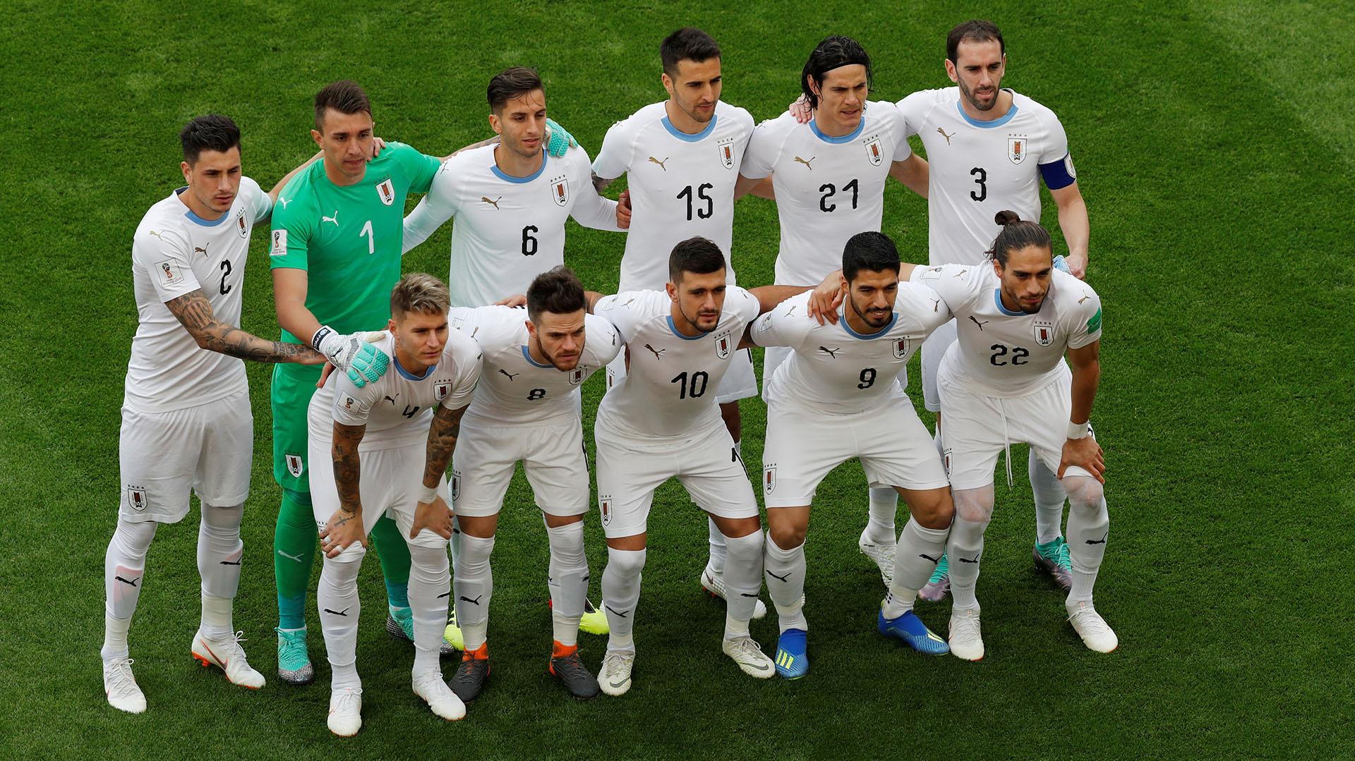 La formación de Uruguay en su primer partido