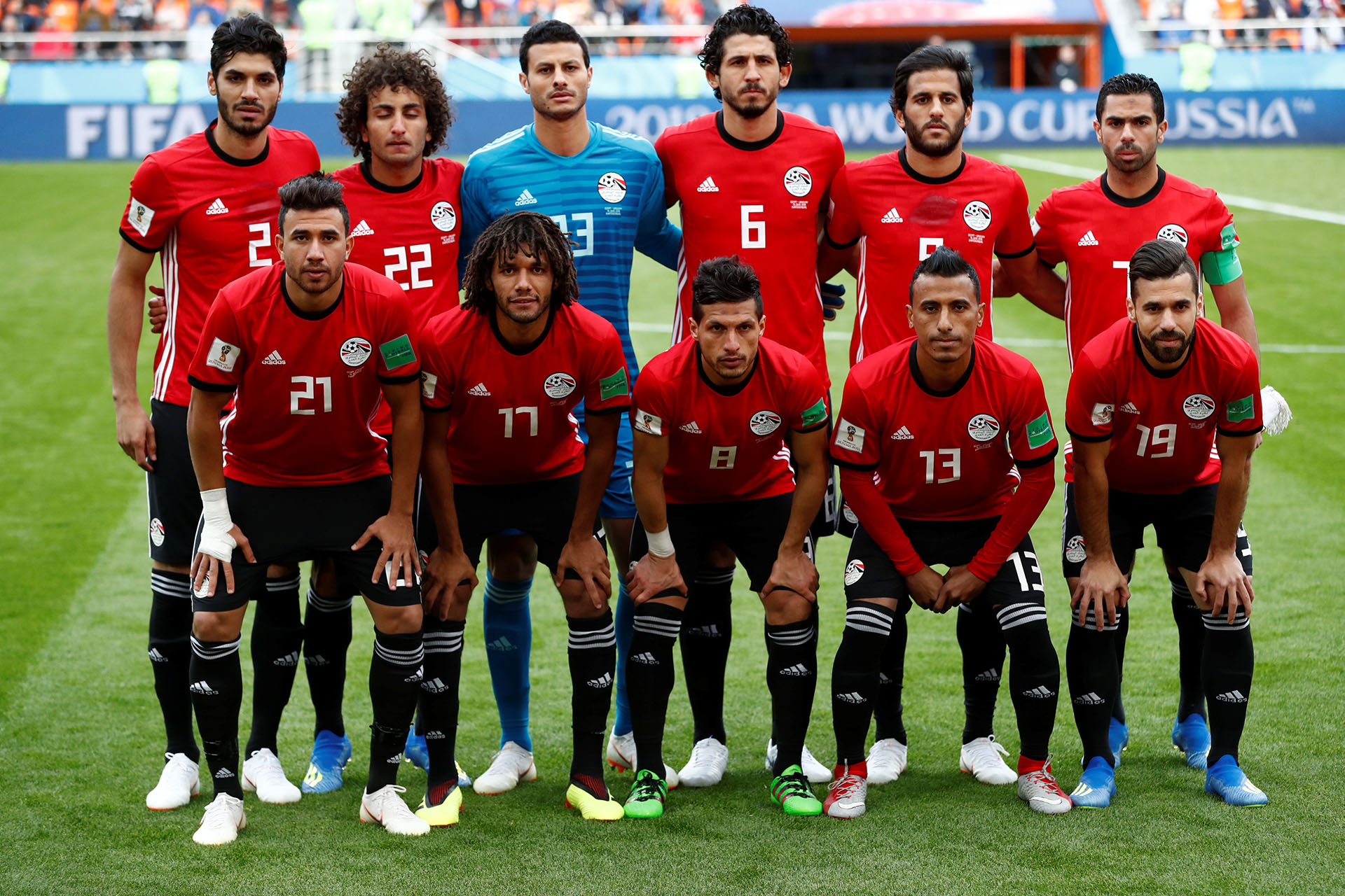 La formación de Egipto en su primer partido