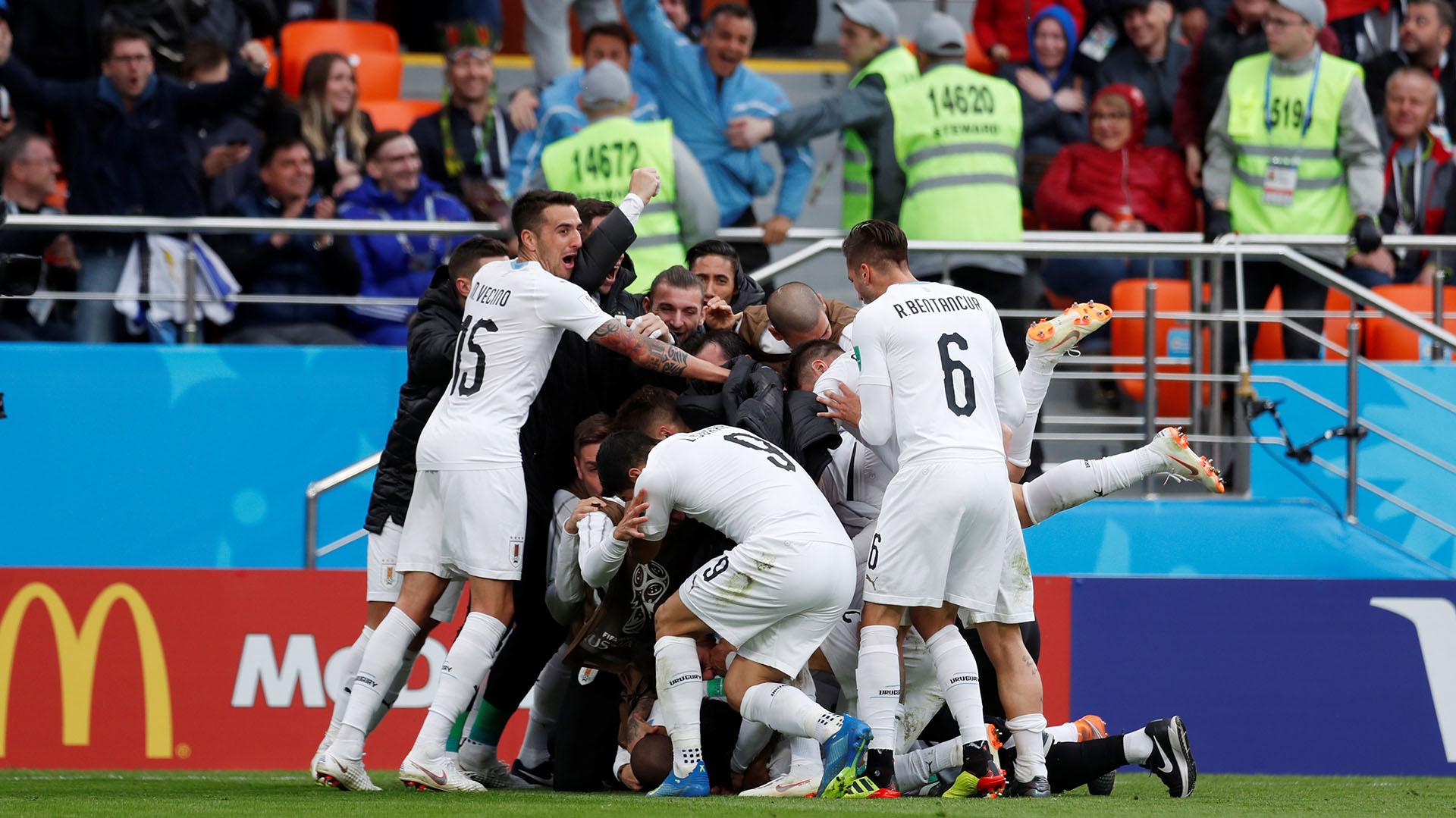 Uruguay consiguió 3 puntos y se ubica segundo en el Grupo A