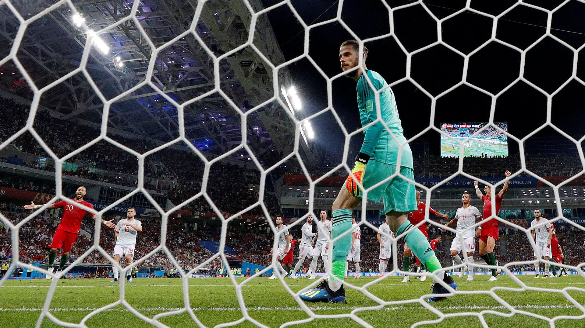 David de Gea tuvo un nivel muy bajo en el debut de España (REUTERS/Ueslei Marcelino)