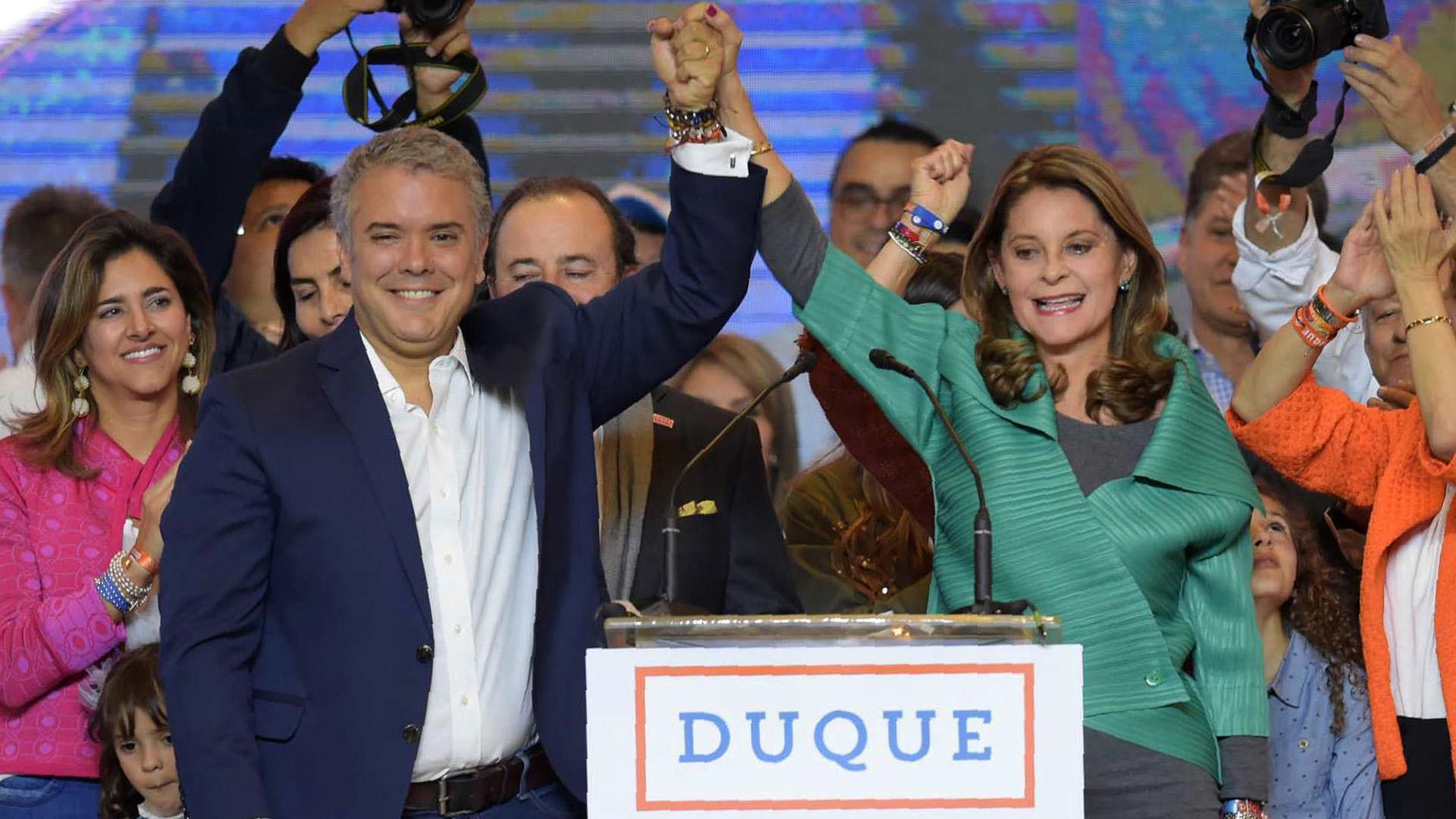 Iván Duque fue elegido presidente de Colombia en un ballotagecontra Gustavo Petro el 17 de junio