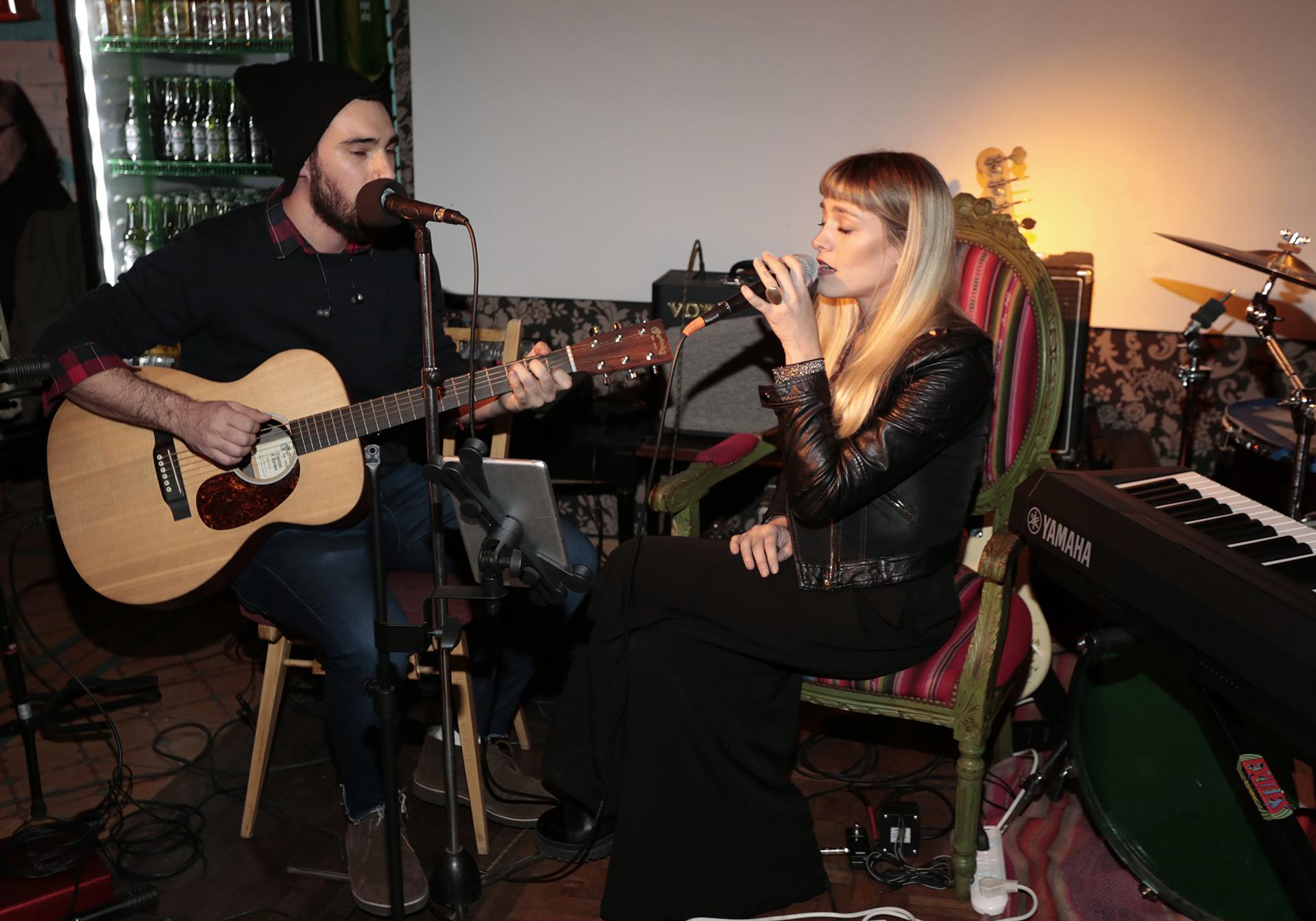 Rocío Igarzabal también cantó durante el evento
