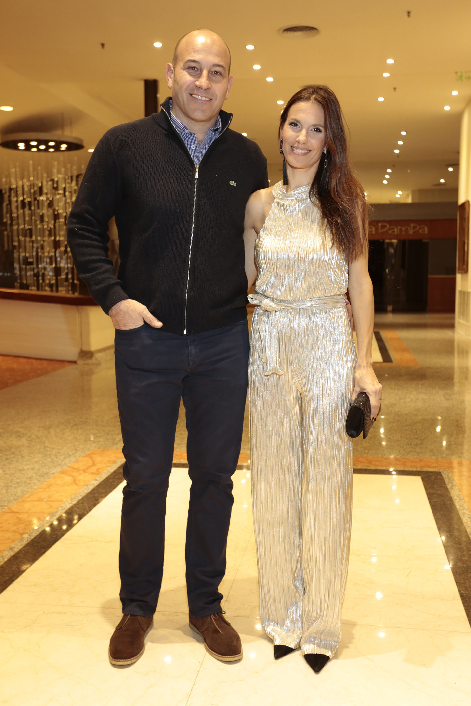El intendente de Quilmes, Martiniano Molina, y su mujer Ileana