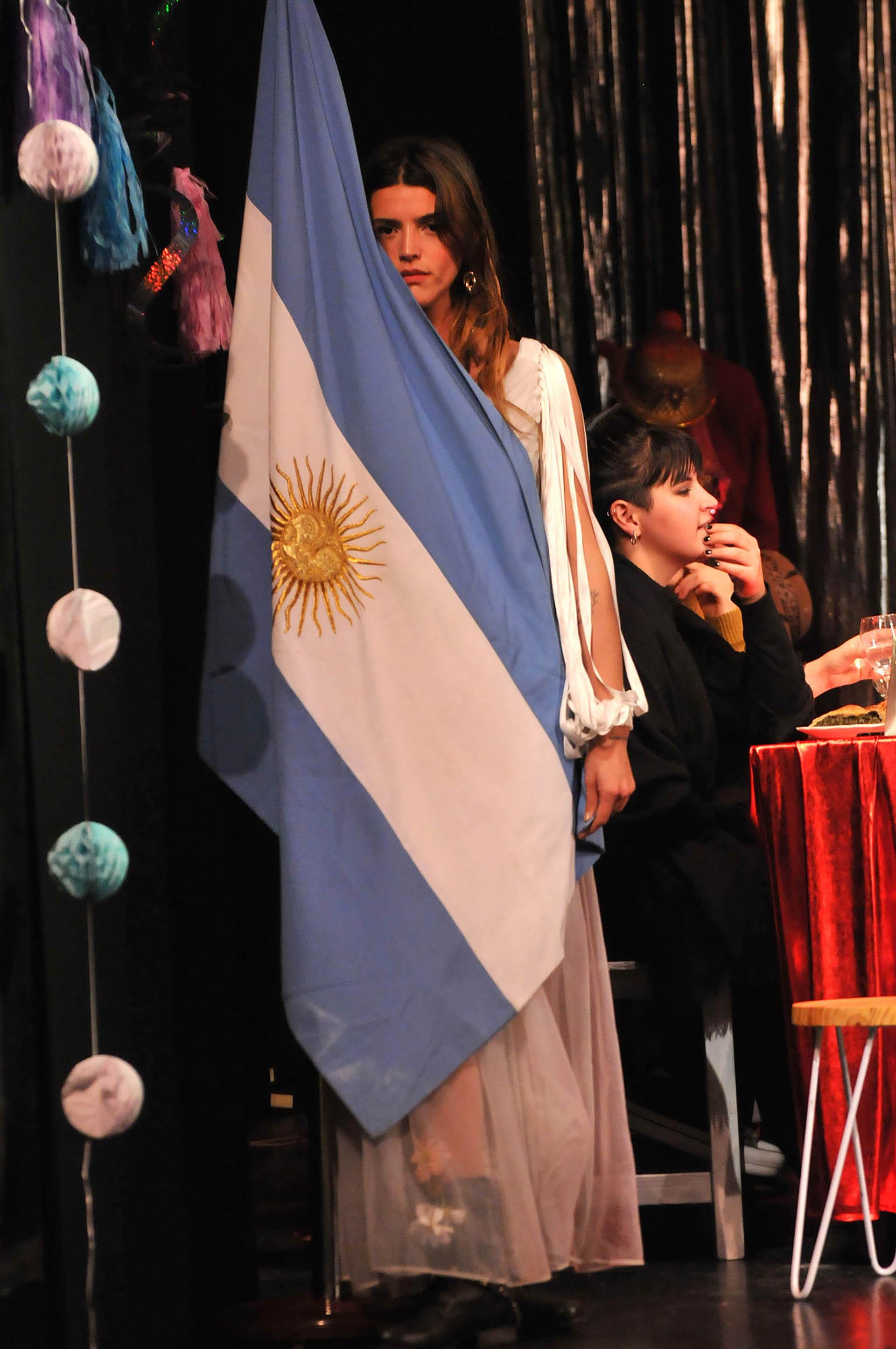 La actriz, en su debut teatral