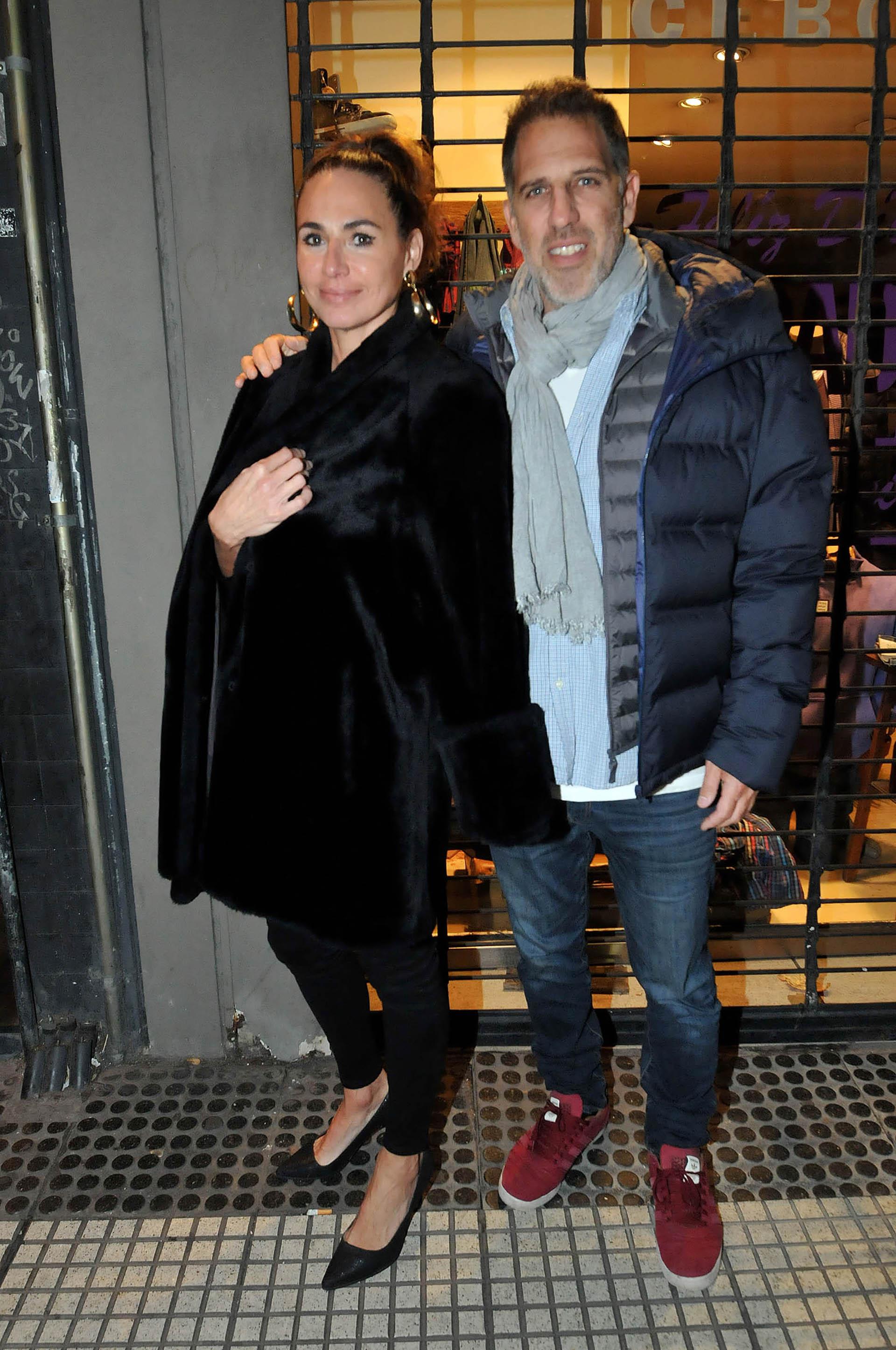 Natalia Lobo y su marido