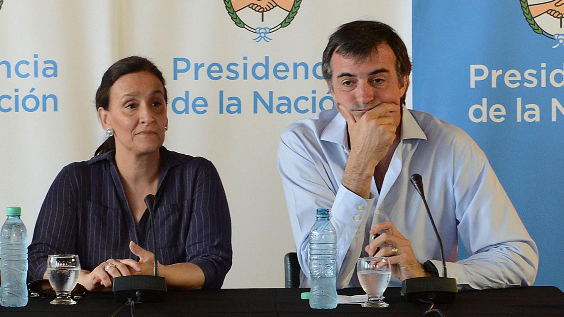 Gabriela Michetti y Esteban Bullrich (NA)