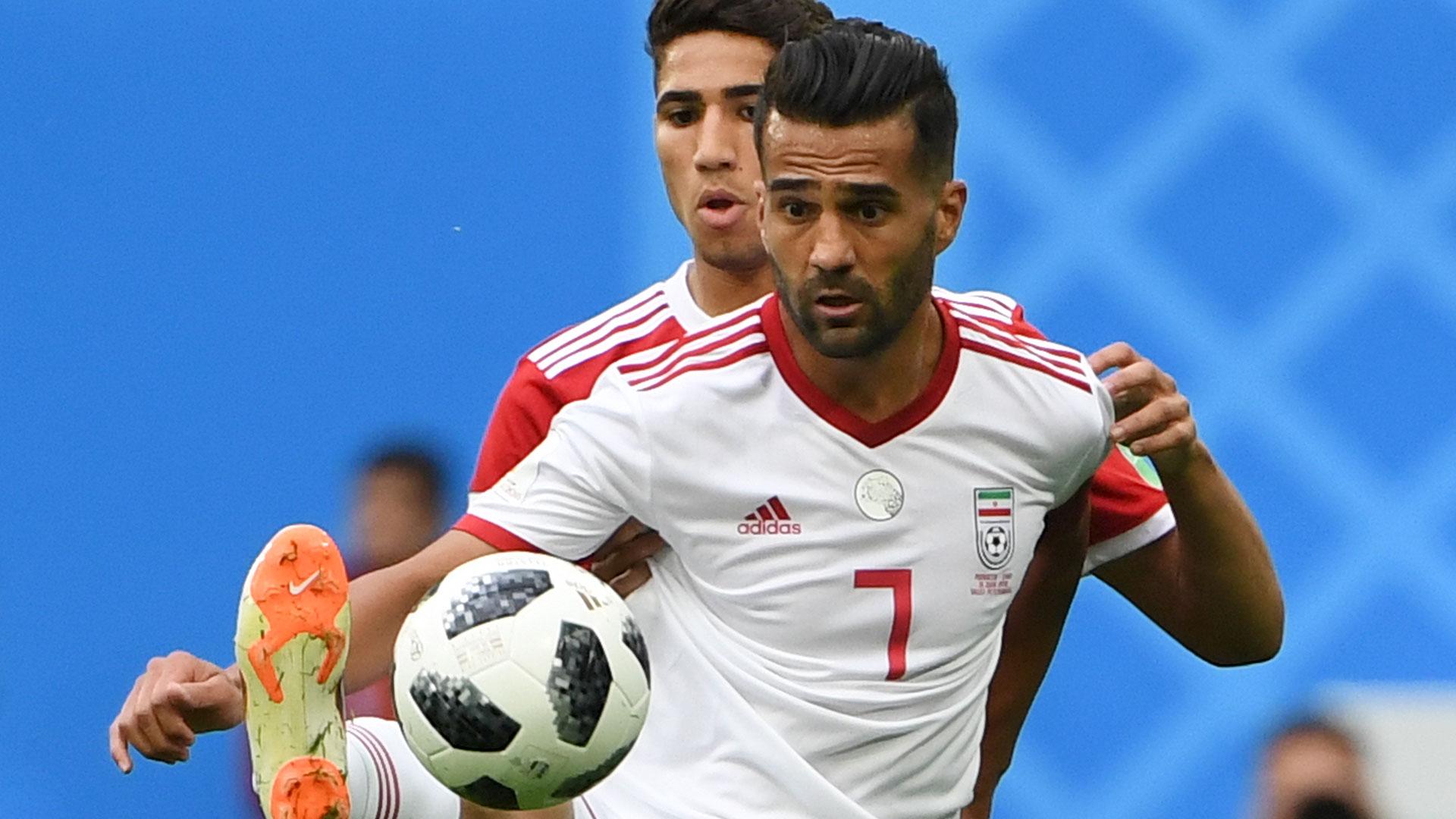 El capitán iraní fue uno de los líderes de su equipo en el triunfo ante Marruecos (AFP)