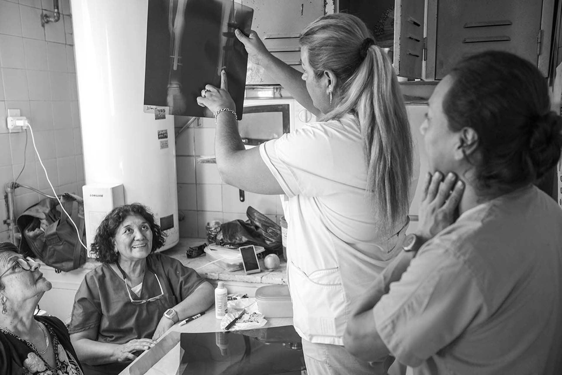 Serena trabaja como enfermera