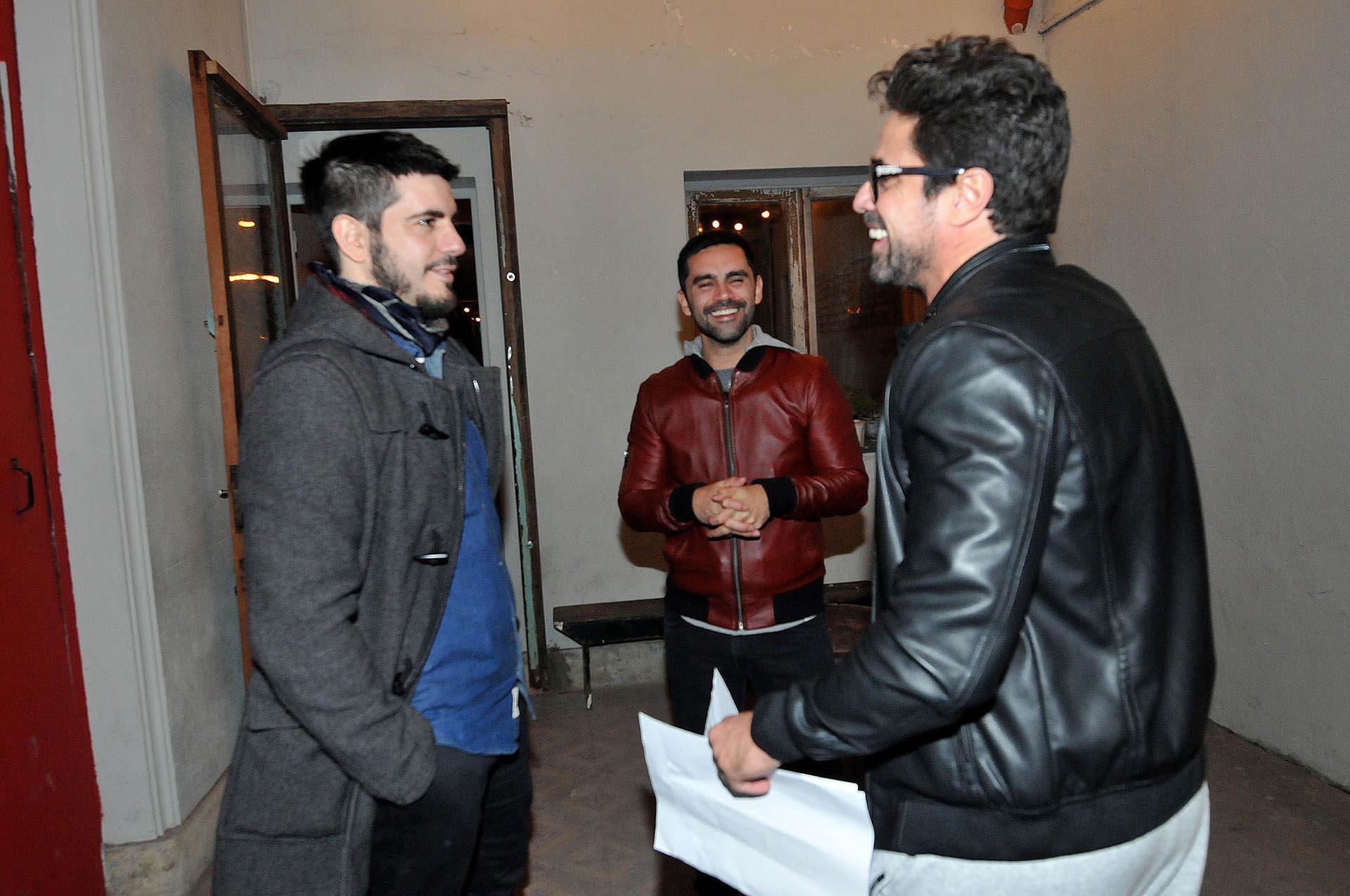 Marco Antonio Caponi, Gonzalo Heredia y Luciano Castro
