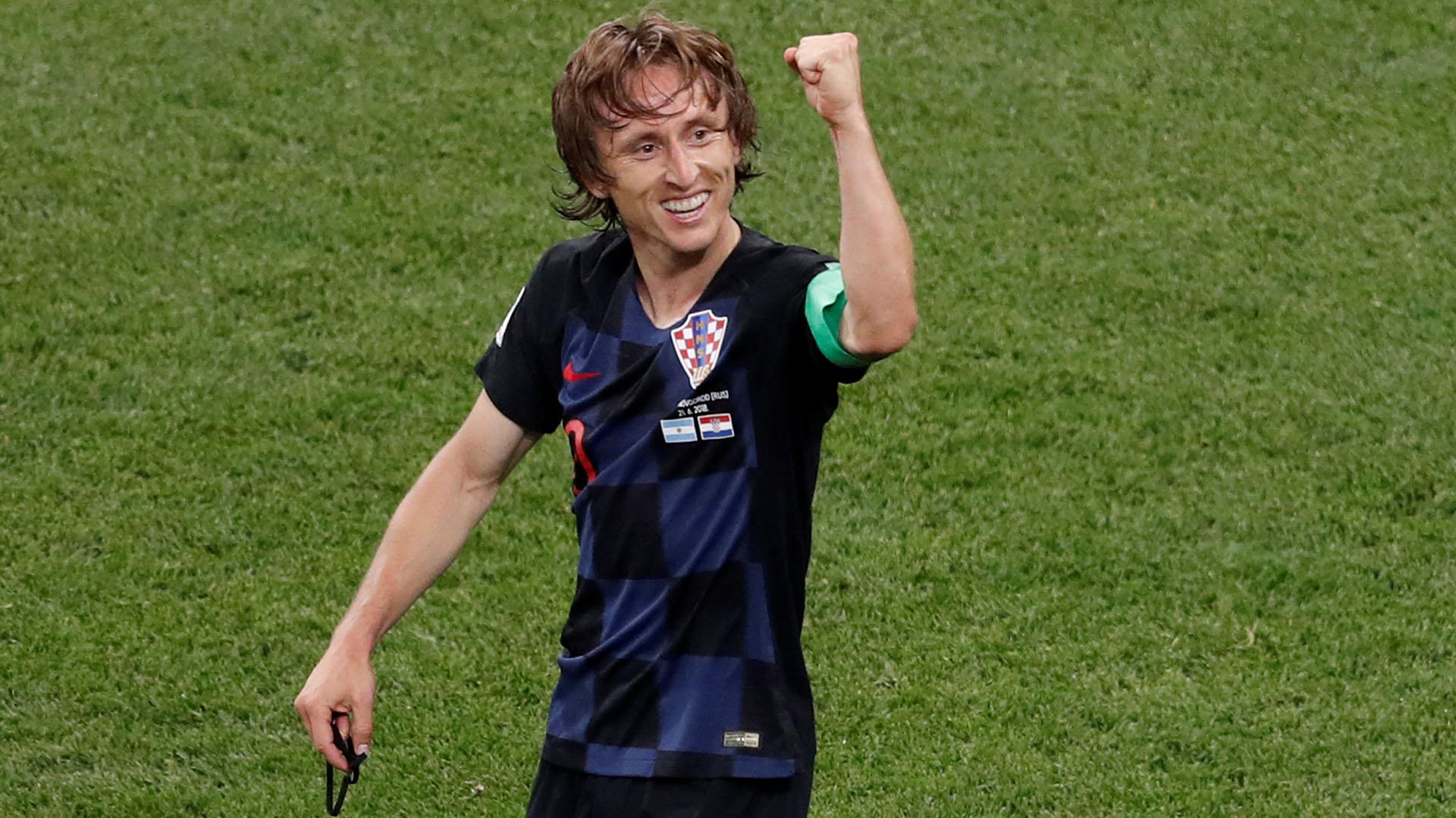 Luka Modricfue figura en el triunfo de Croacia ante la Argentina (REUTERS/Carlos Barria)