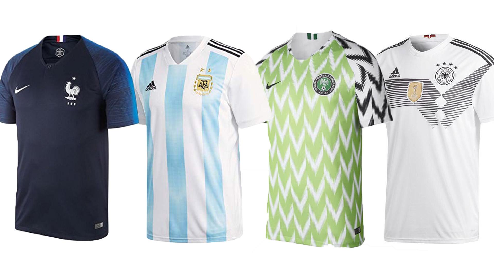 Mundial con estilo  las 30 camisetas titulares y suplentes de fútbol más  lindas de Rusia 2018 - Infobae 5a339321d5e42