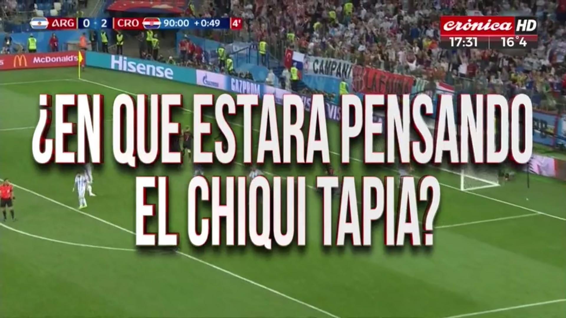 Placa de Crónica HD tras la derrota de la Selección Nacional ante Croacia en el Mundial de Rusia 2018