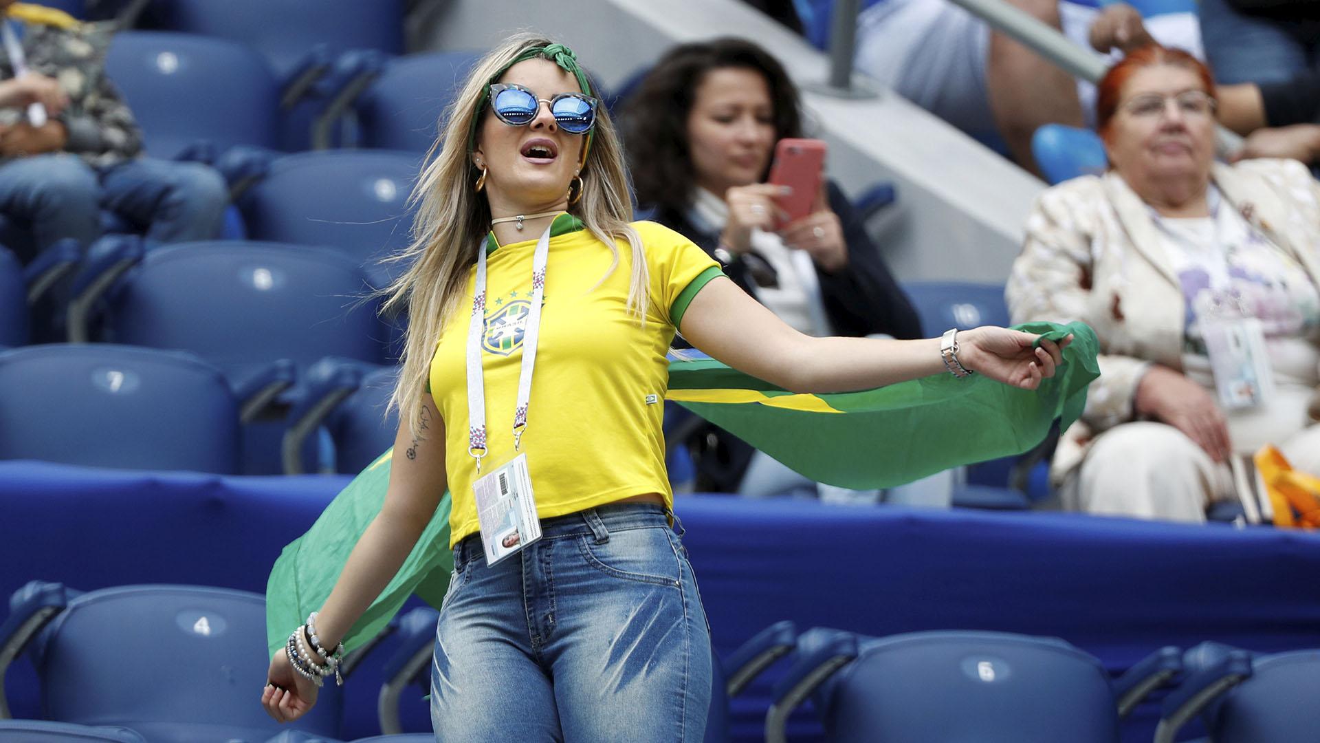 Los fanáticos brasileños alentaron a Neymar y compañía