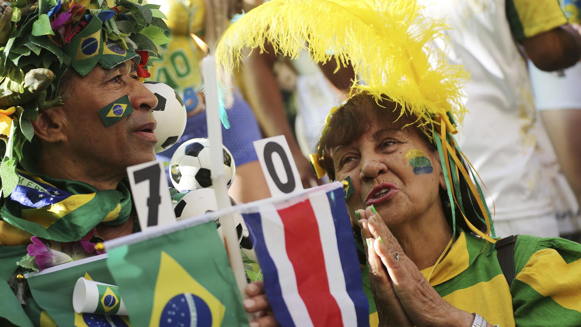 Los fanáticos brasileños estaban confiados en la victoria
