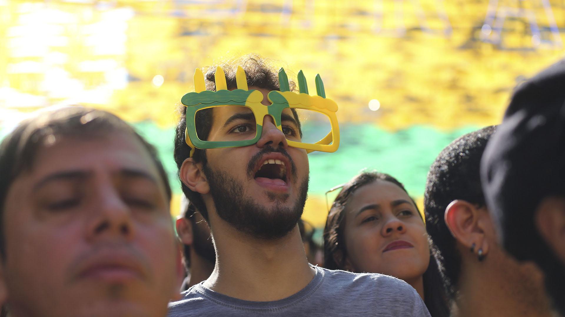 Los fanáticos de Brasil vivieron un caluroso encuentro