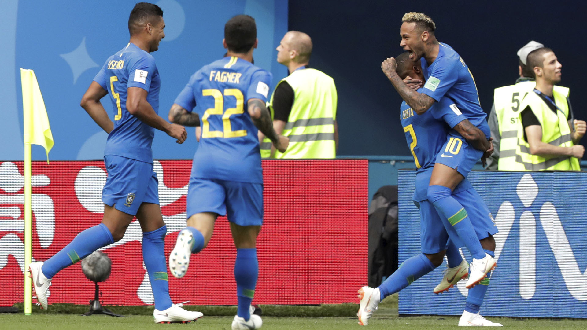 Neymar marcó el segundo gol de Brasil