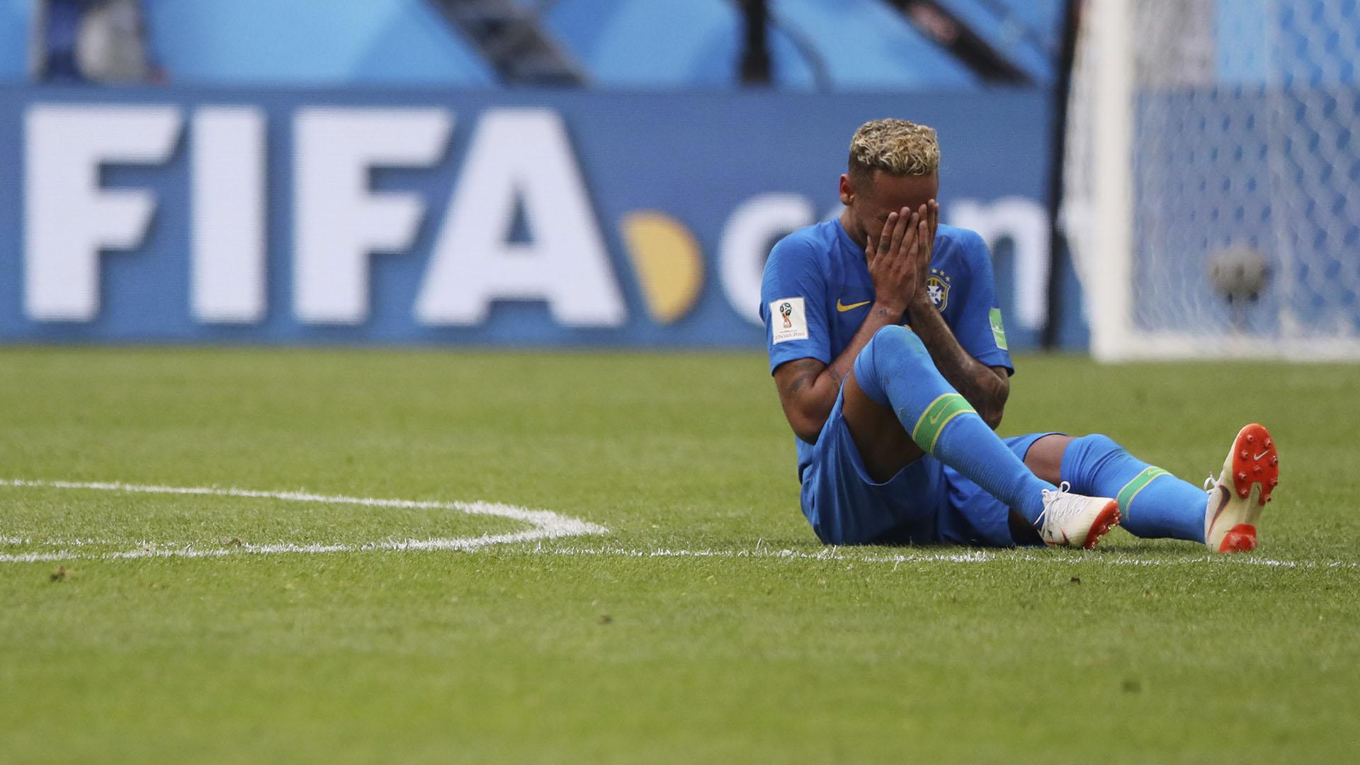 Neymar al término del partido