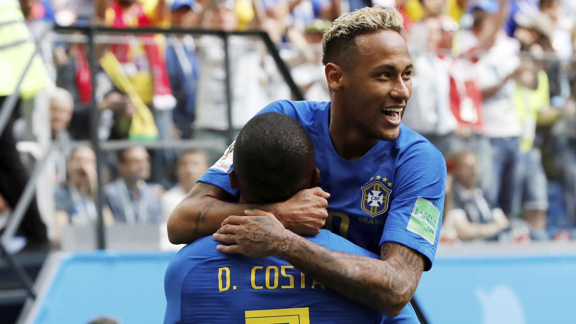 Brasil logró la victoria ante Costa Rica por 2-0