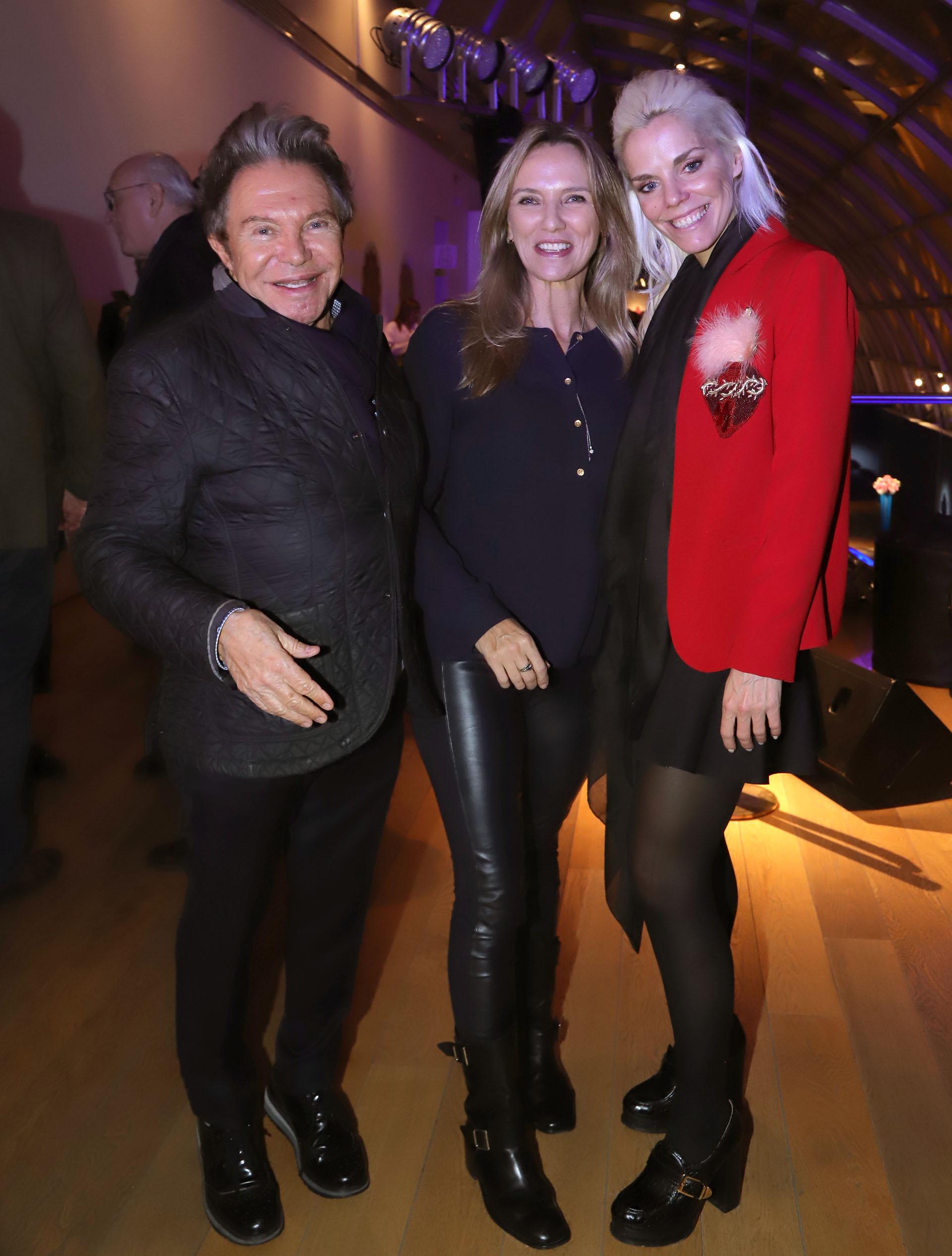 Felipe y Mary Rozenmuter con Agustina Rossi