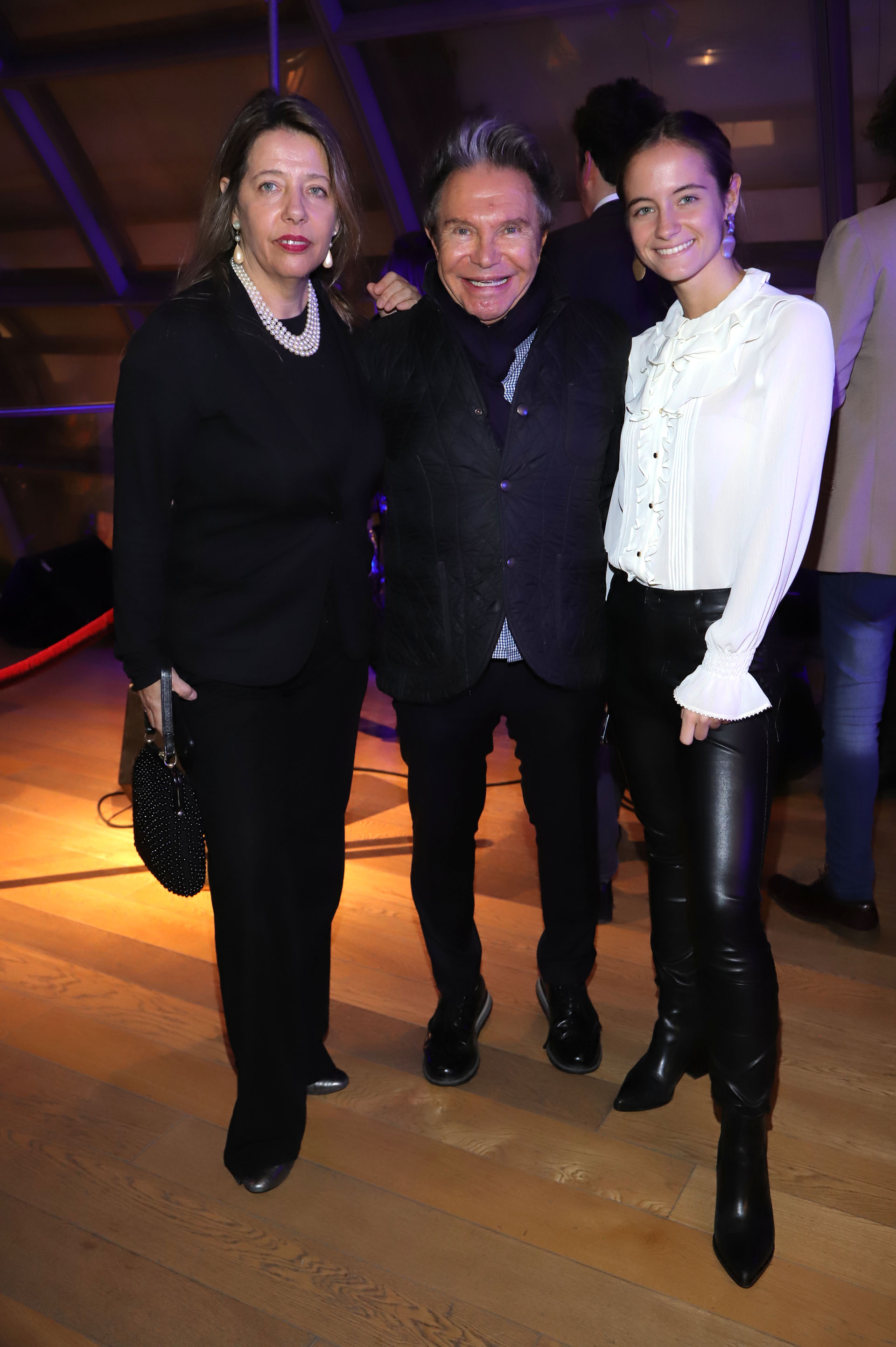 María Claudia Pedrayes, Felipe Rozenmuter y Violeta Juni