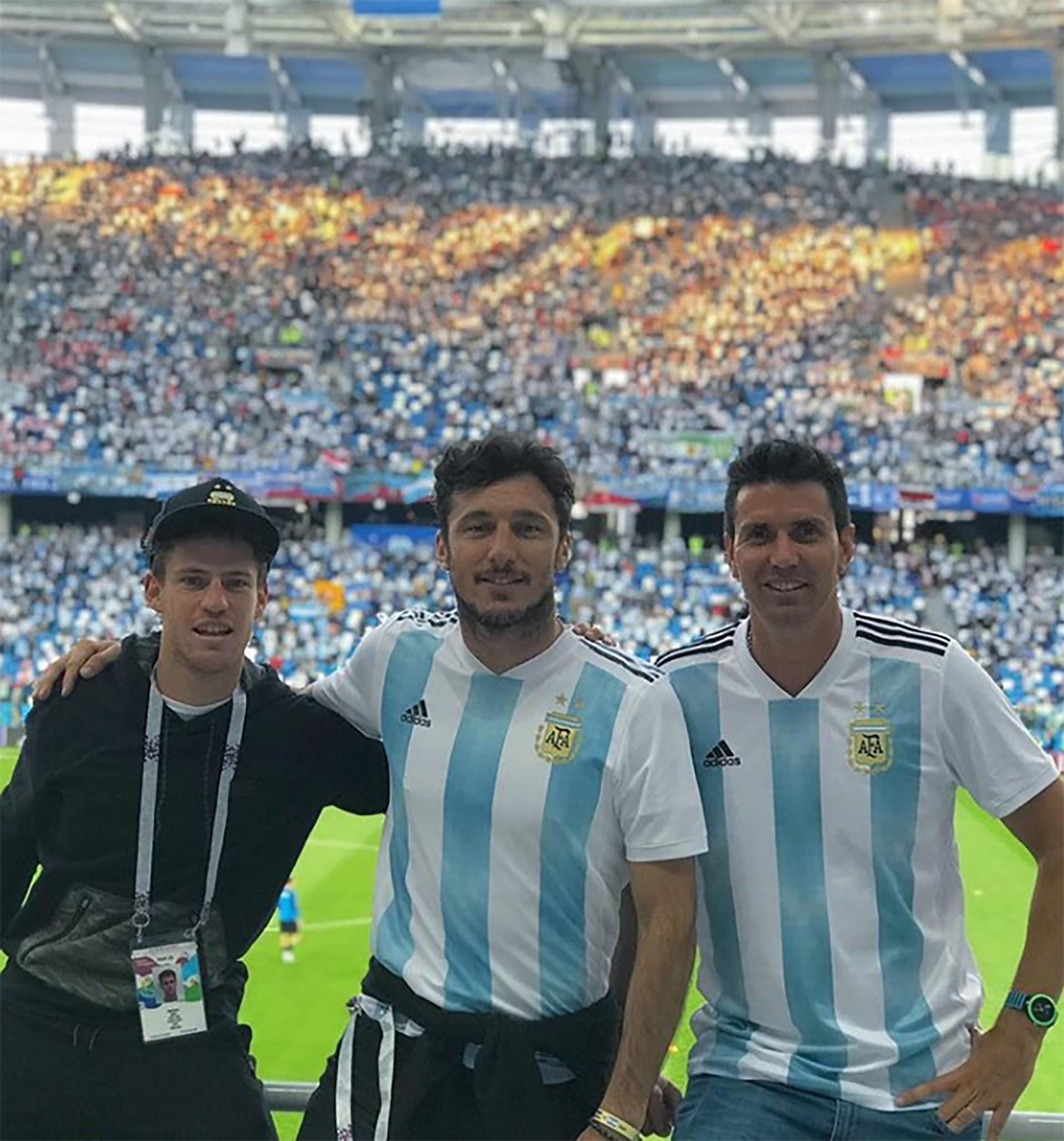 Pico Mónaco alentó a la Selección junto con Juan Ignacio Chela y Diego Schwartzman. El tenista se angustió mucho con la derrota de Argentina ante Croacia