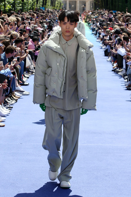 Las puffer jackets también tuvieron su momento de protagonismo en la pasarela