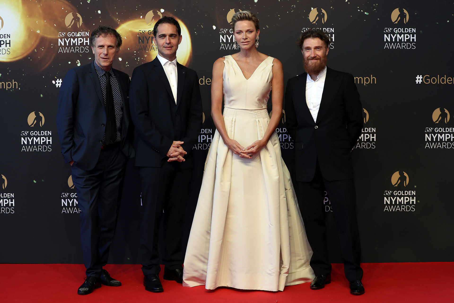 Charles Berling, Pedro Alonso, Charlene y Thierry Fremont en una nueva edición del Festival de Televisión de Monte Carlo /// Fotos: AFP