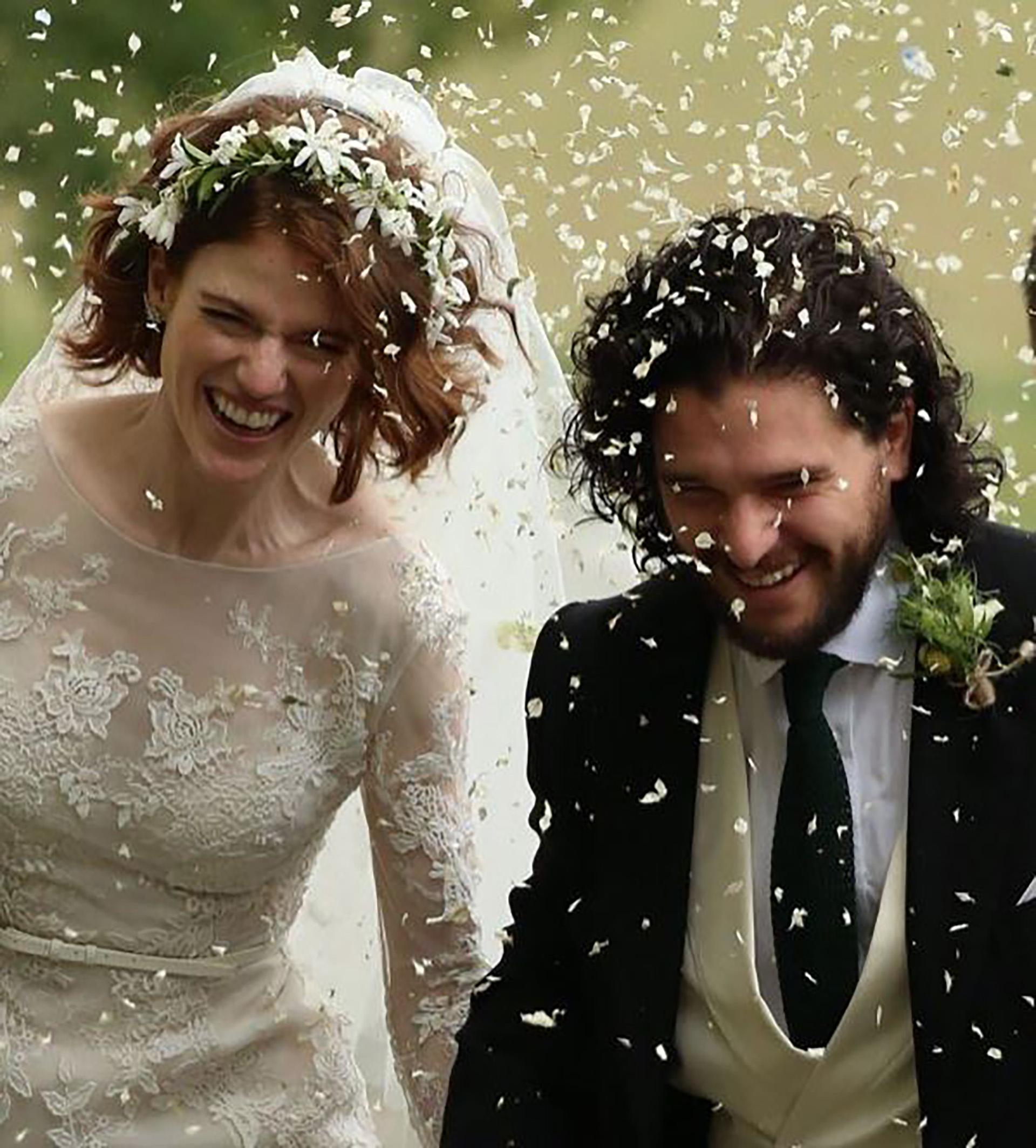 Kit Harington y Rose Leslie se casaron en un castillo en Escocia el año pasado