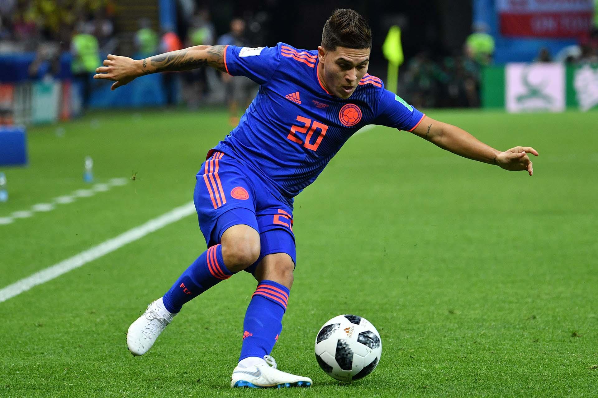 Juan Fernando Quintero fue una de las figuras de Colombia ante Polonia (AFP)