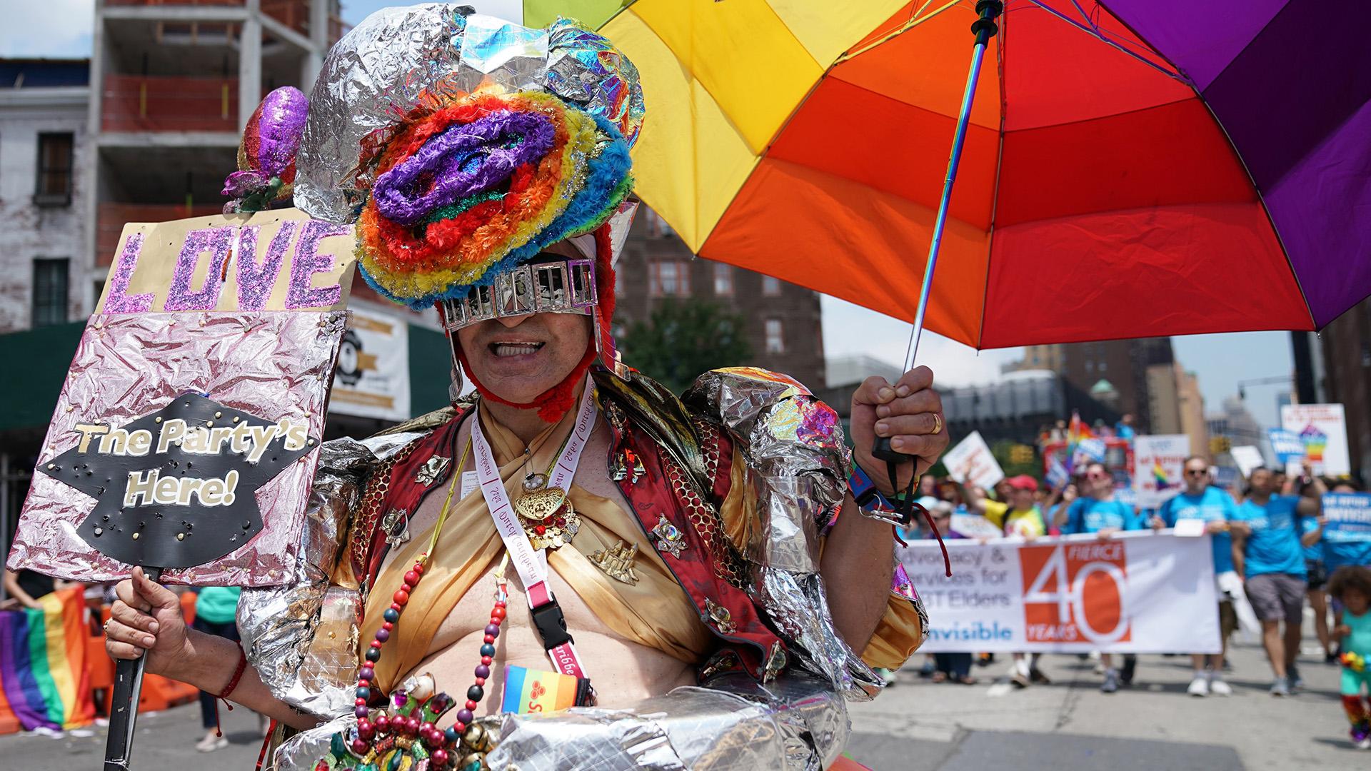 Una colorida marcha en Nueva York (AFP)
