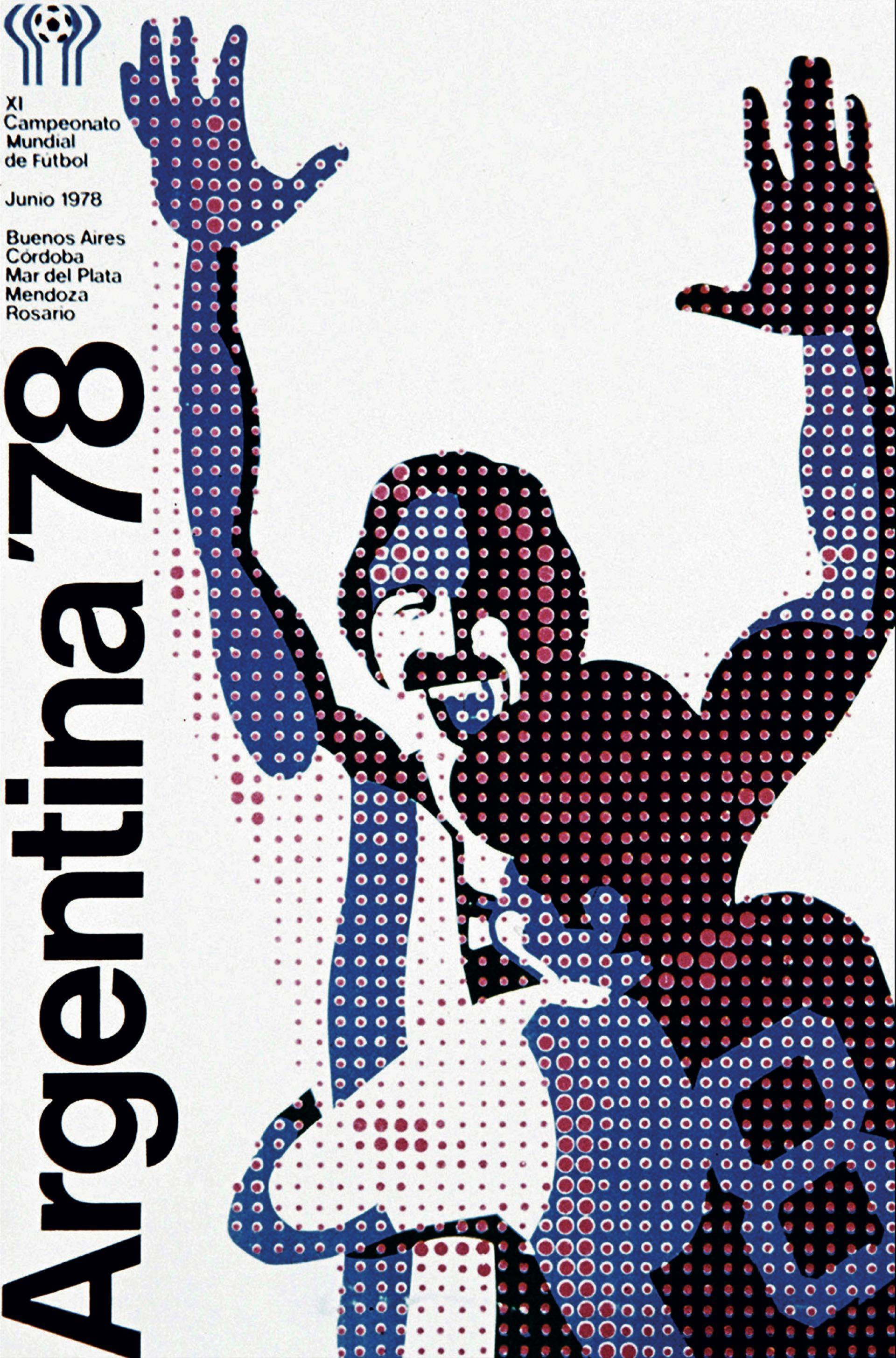 Uno de los afiches queinundaron las calles de Buenos Aires y se usaron para promocionar el Mundial en el exterior. El otro símbolo fue el famoso Gauchito,mascota de la competencia