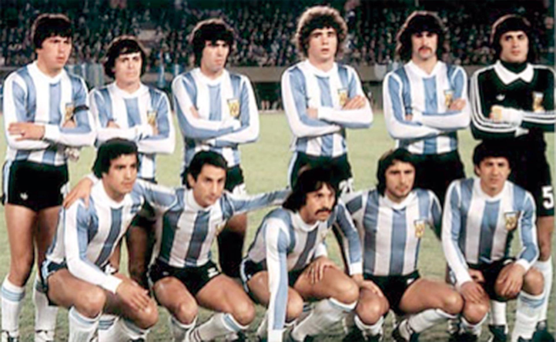 De memoria: parados, Passarella, Houseman, Olguín, Tarantini, Kempes yFillol; en cuclillas, Gallego, Ardiles, Luque, Valencia y Galván