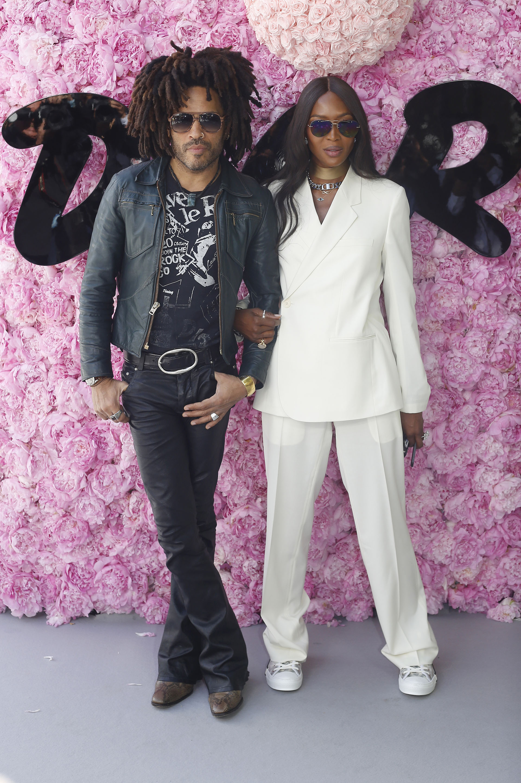 Lenny Kravitz y Naomi Campbell