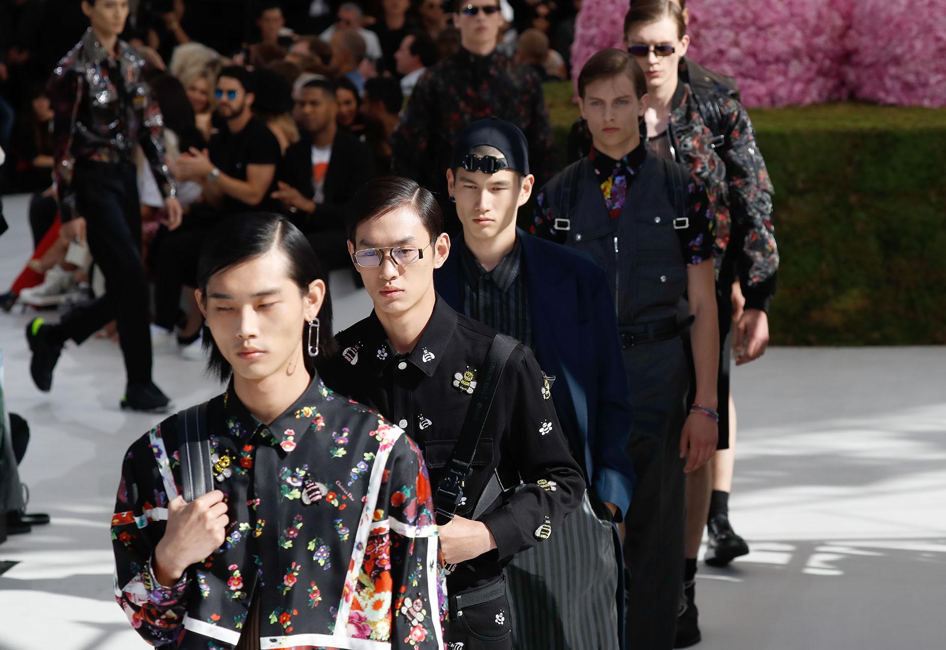 Dior presentó su nueva colección para hombres, en el marco de la Men's Fashion Week, en París
