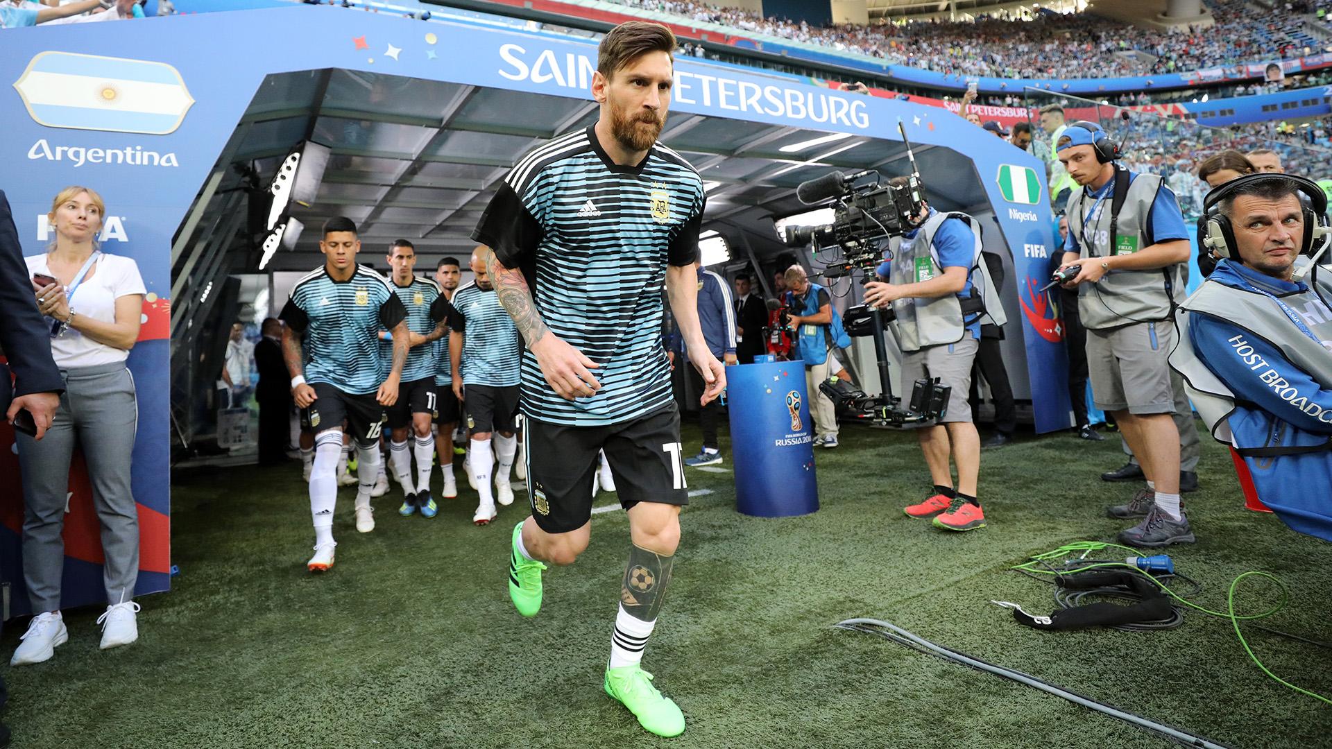 La salida del capitán argentino al campo