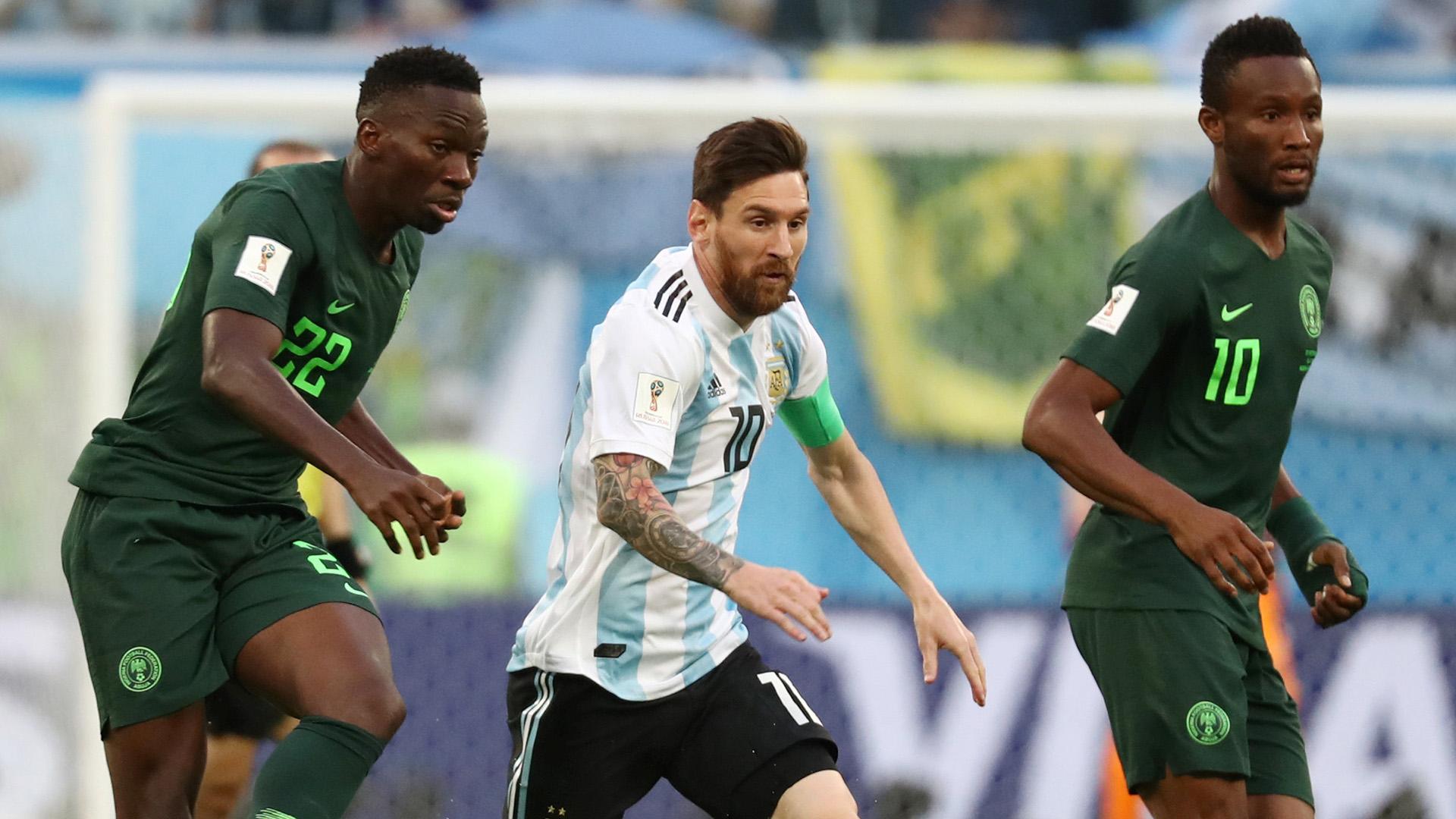La aguerrida marca a Messi por parte de los nigerianos
