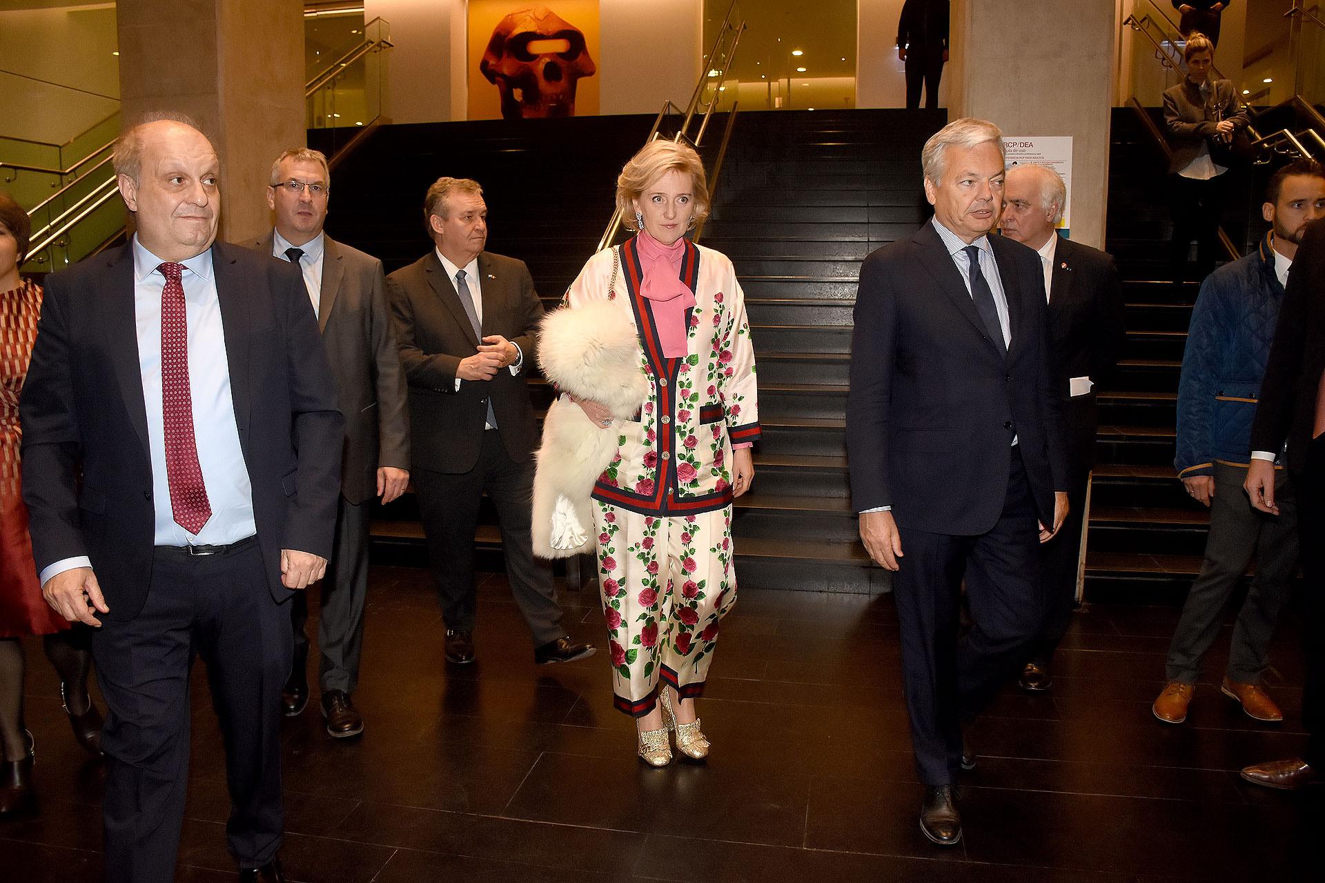 Astrid de Bélgica fue recibida por el titular del Sistema Federal de Medios y Contenidos Públicos, Hernán Lombardi