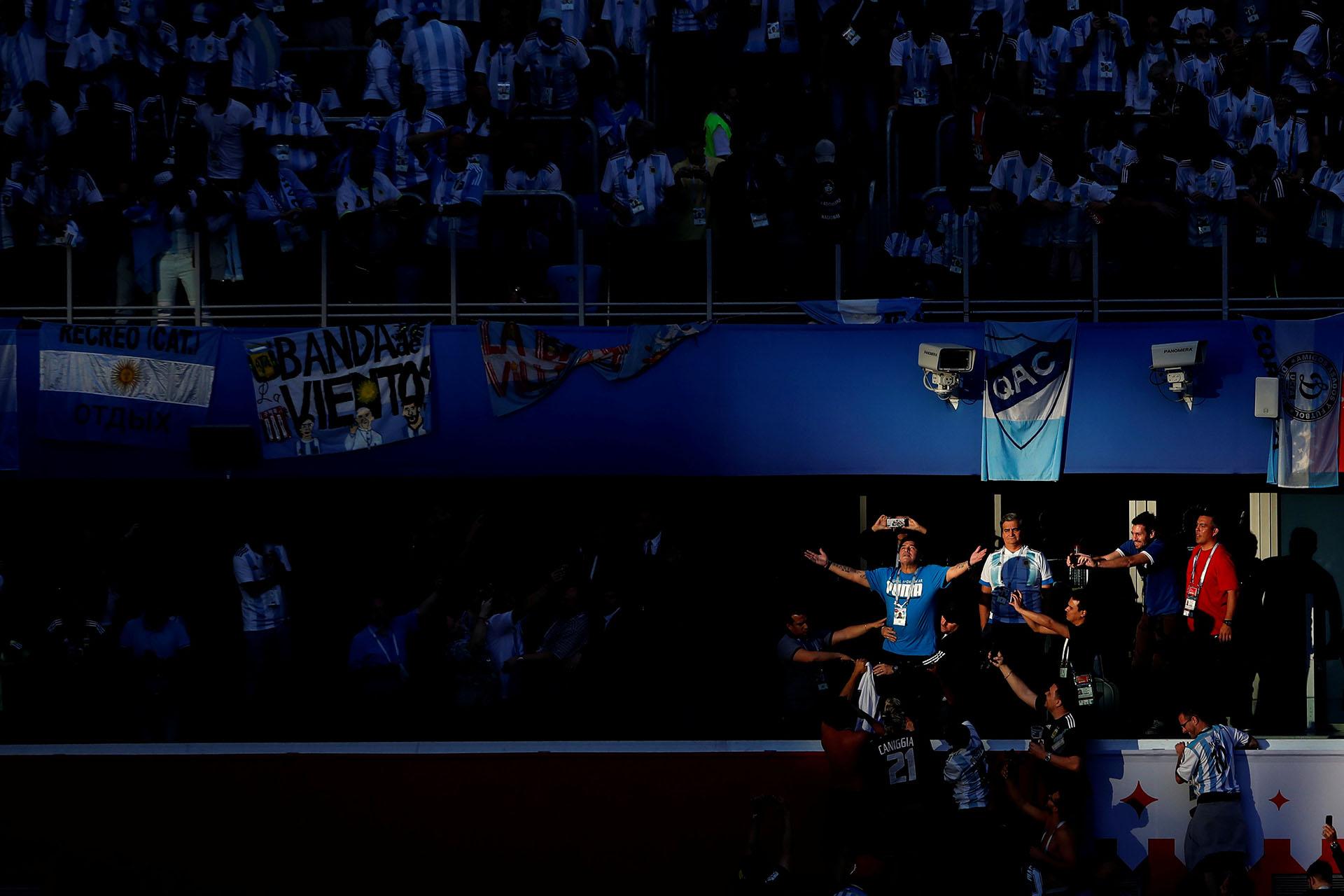 """El """"Diez"""" estuvo presente en todos los partidos de Argentina en el Mundial"""