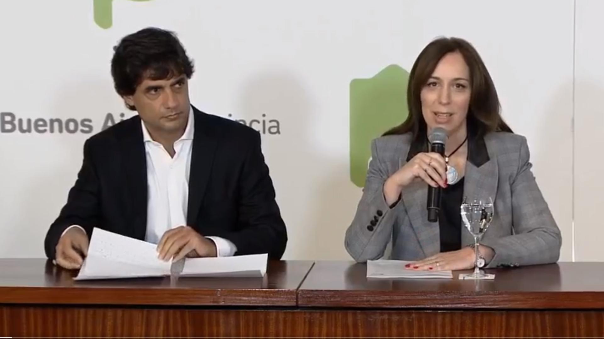 María Eugenia Vidal y su ministro de Economía reclaman un tratamiento igualitario con el resto de las provincias, en proporción al nivel de población e índices de pobreza y recaudación