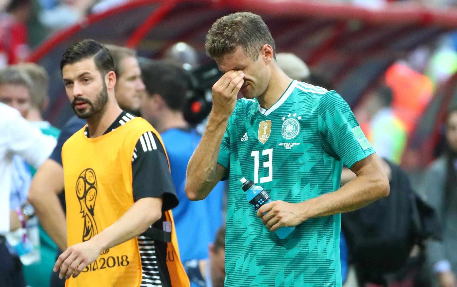 Los alemanes no pudieron contener las lágrimas (Reuters)
