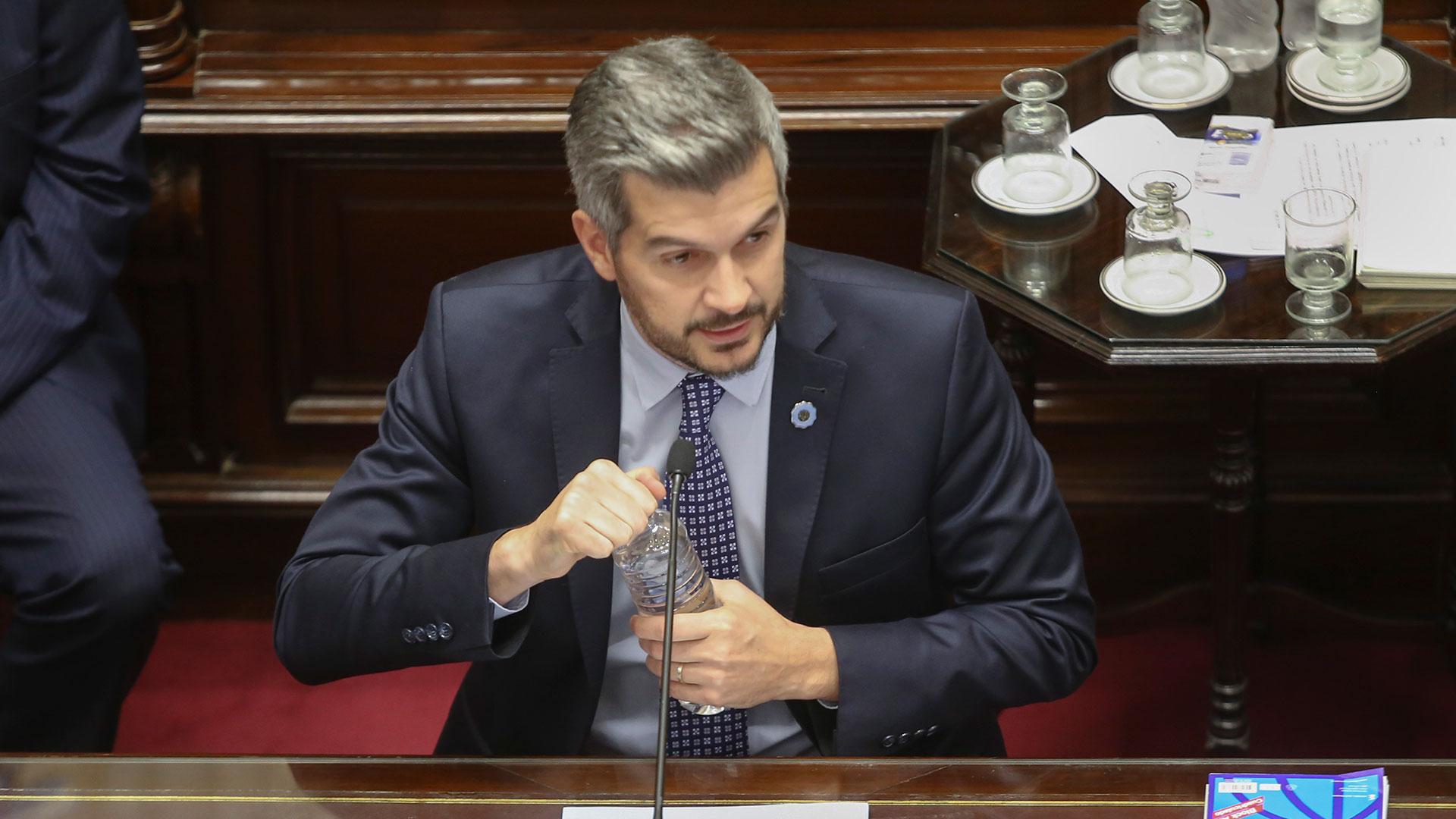Marcos Peña en el informe al Senado de esta semana (NA)