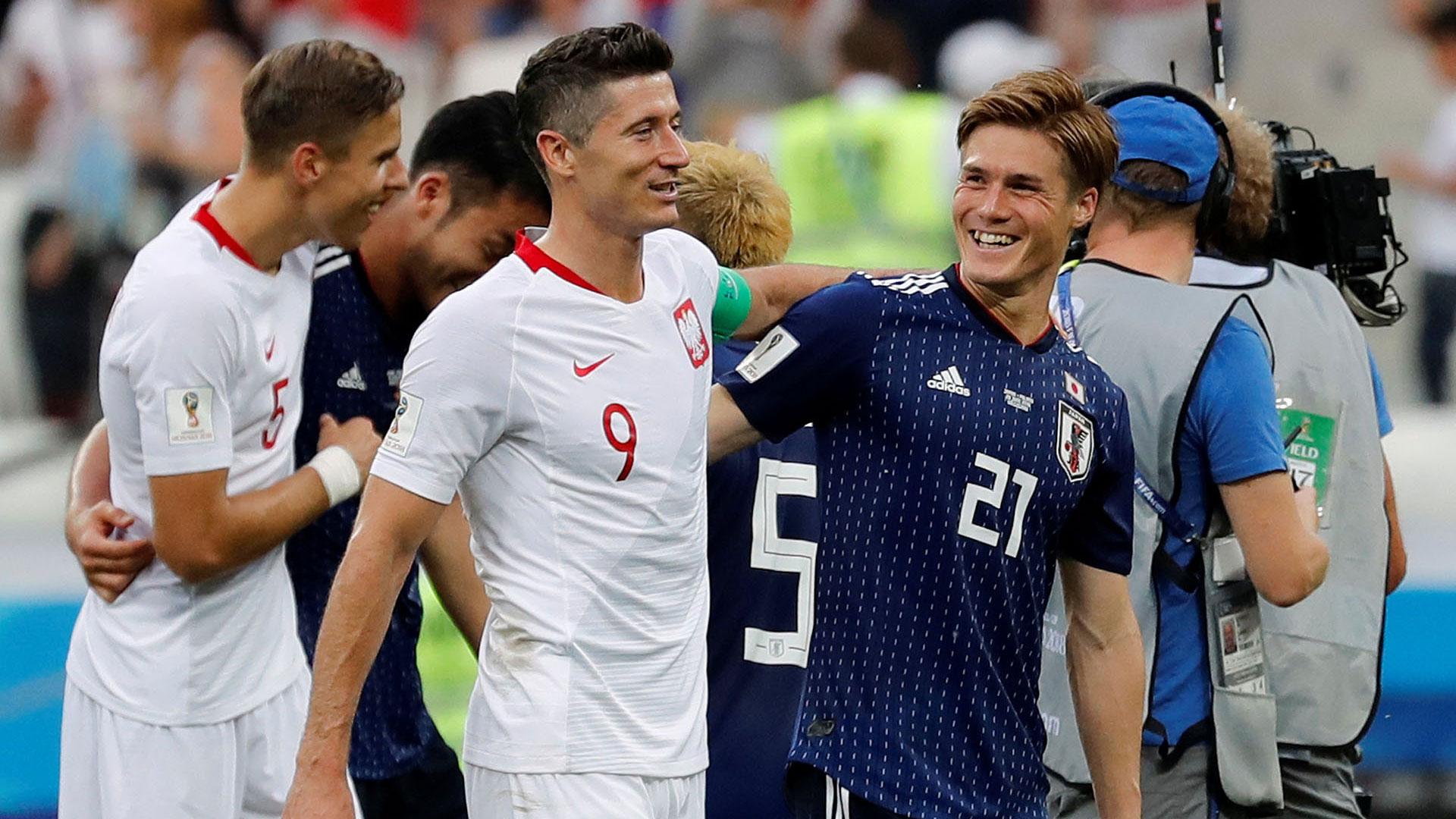 Polonia y Japón fueron silbados en los últimos minutos del partido