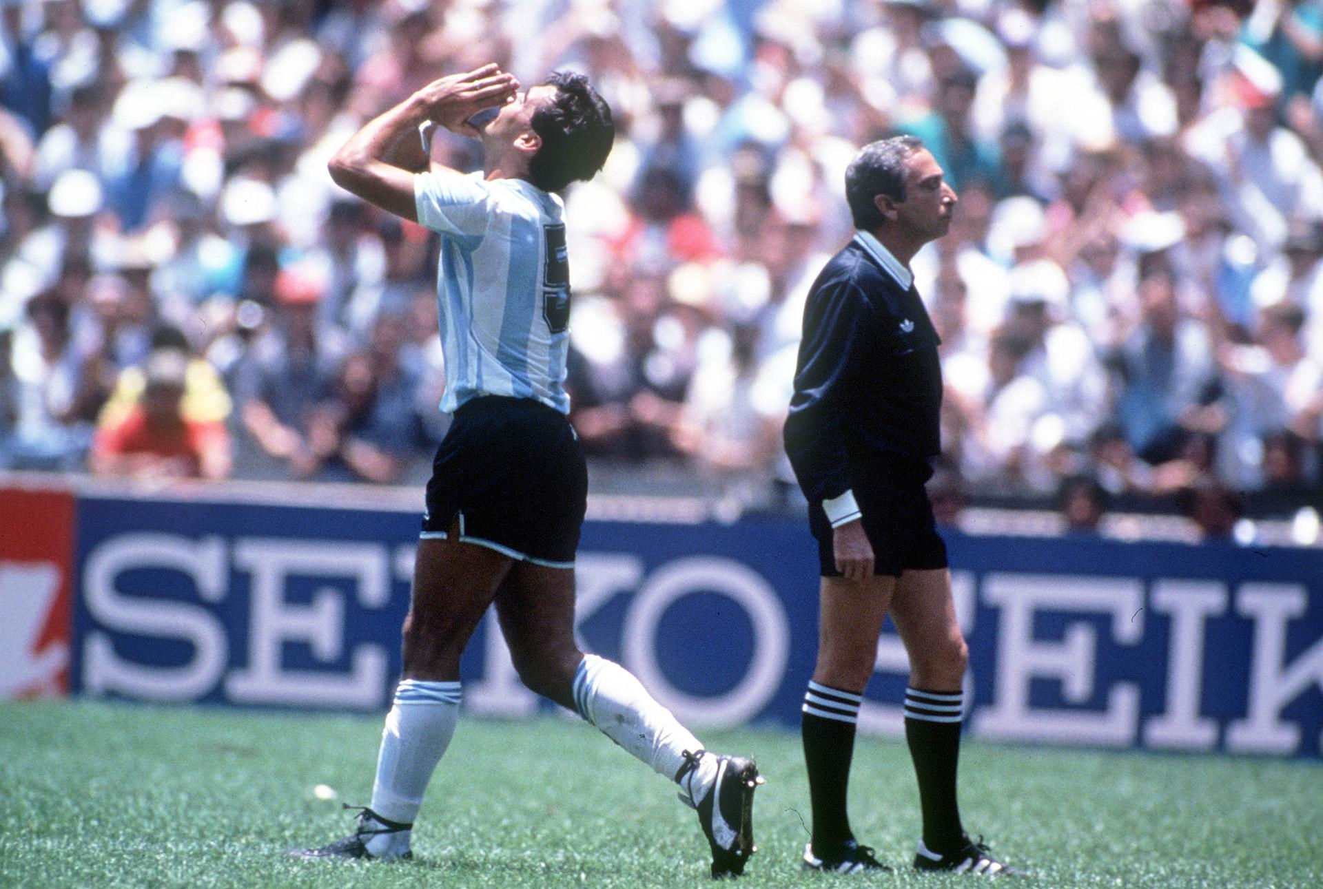 José Luis Brown, autor del primer tanto en la final de México 86