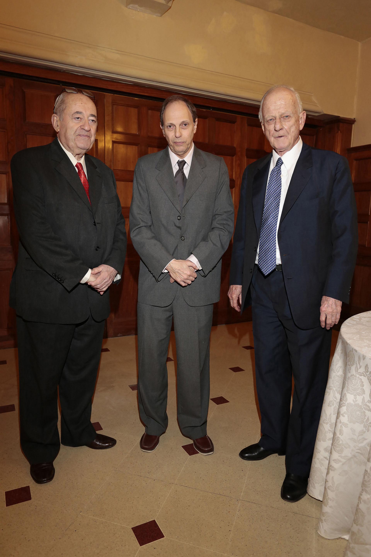 Guillermo Ignacio (Ecos diarios, Necochea), Diego Dillenberger (Imagen, Buenos Aires) y el constitucionalista Badeni